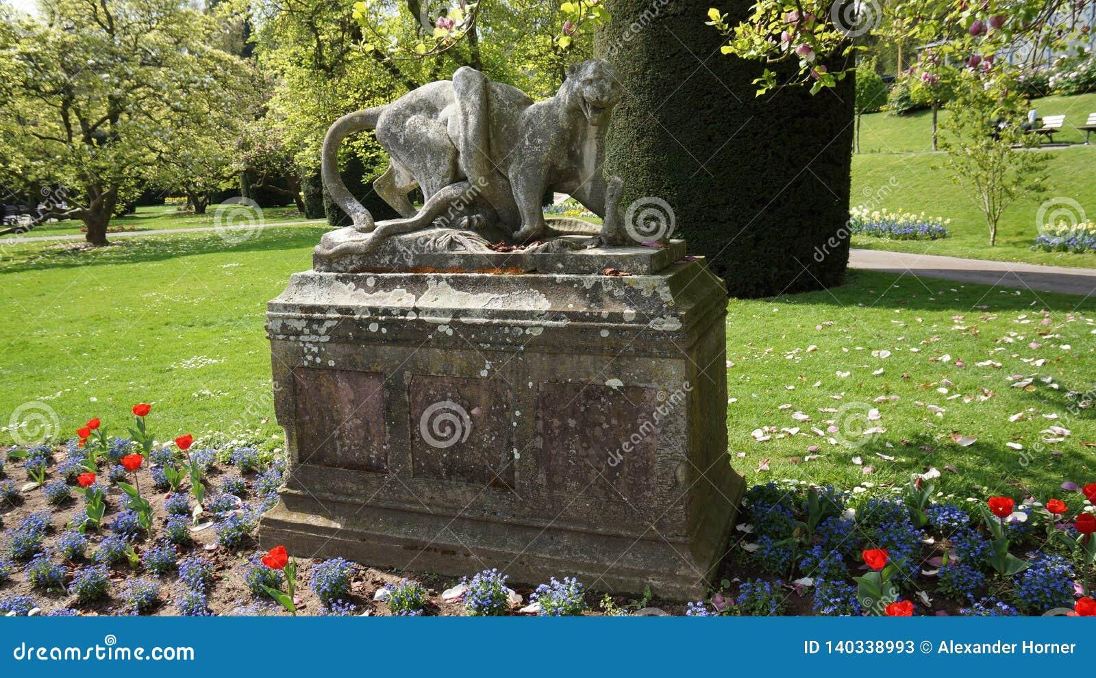 Wilhema zoo Niemcy budynku parka dziejowa rzeźba