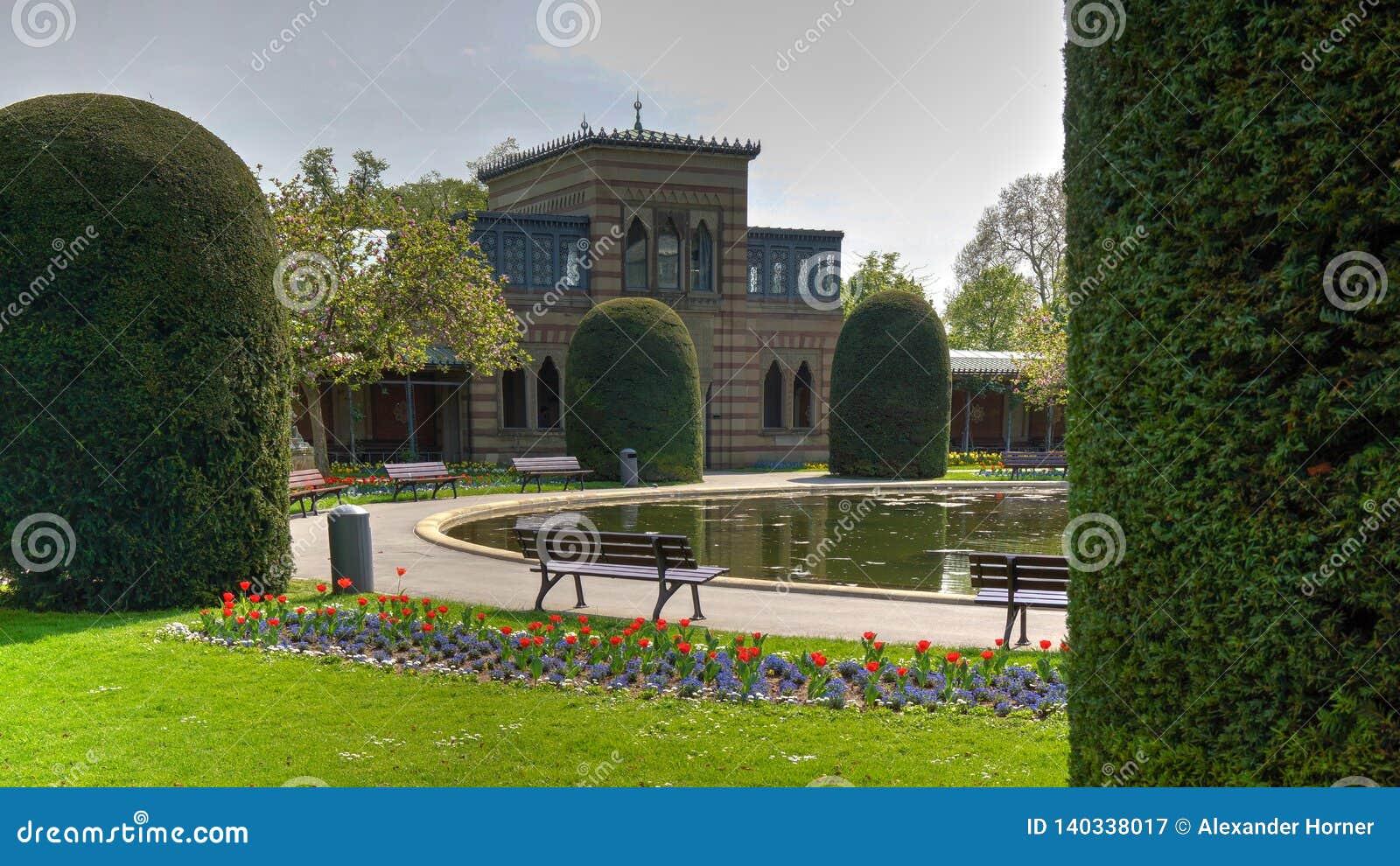 Wilhema zoo Niemcy budynku parka dziejowy staw