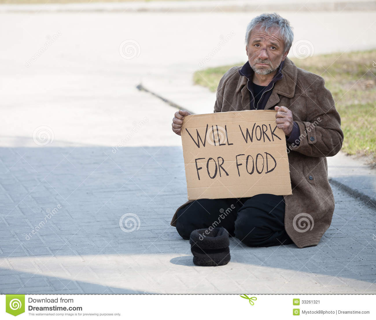 Will Work For Food Stock Image Image 33261321