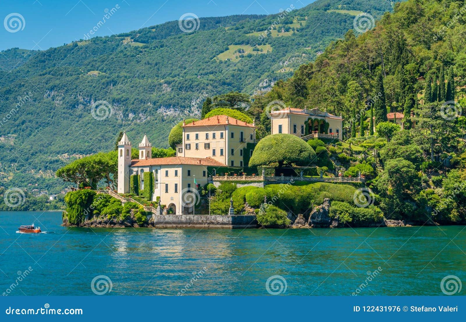 Willa Del Balbianello, sławna willa w comune Lenno, przegapia Jeziornego Como italy Lombardy