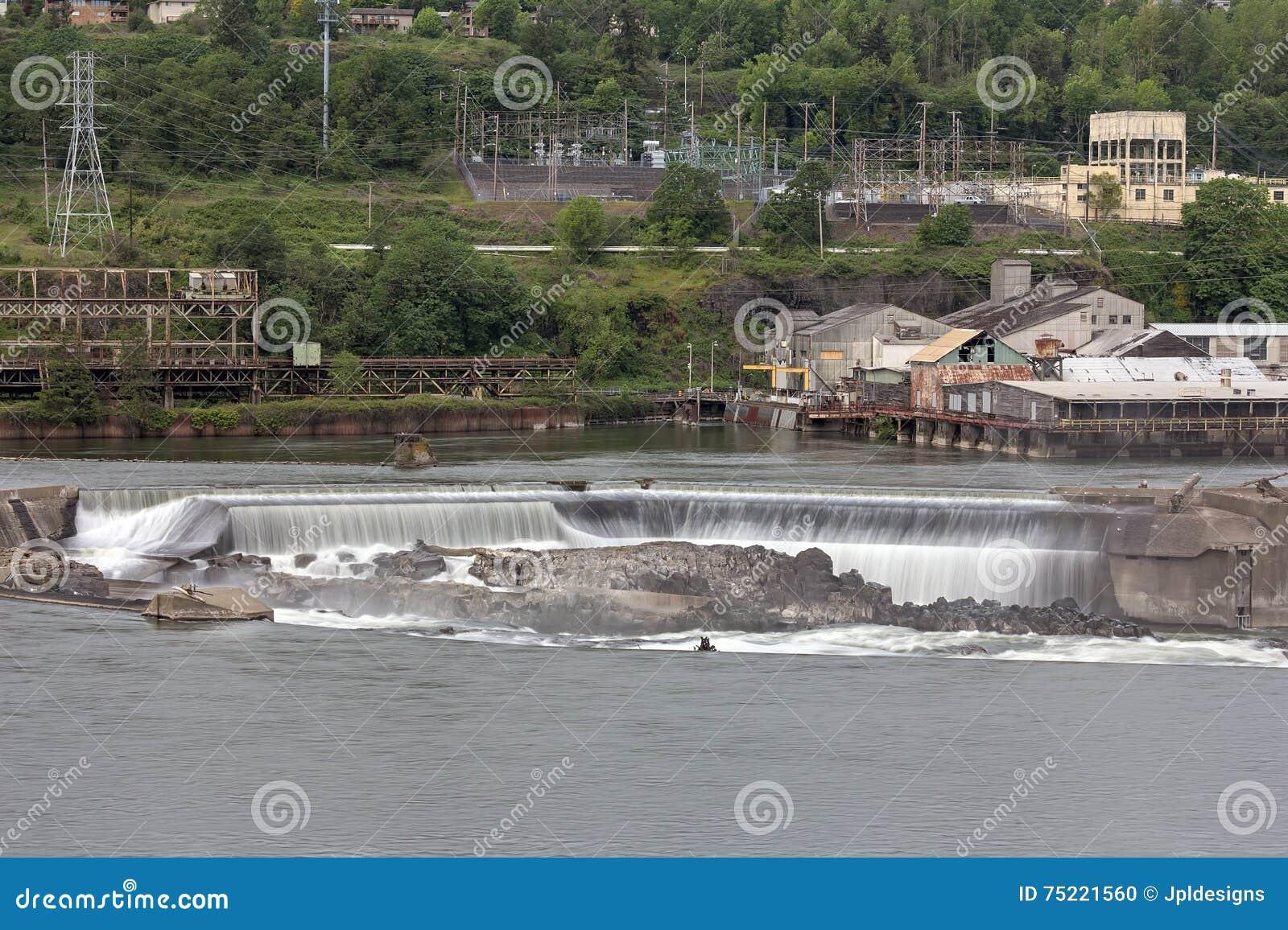 Willamette nedgångar i den Oregon staden