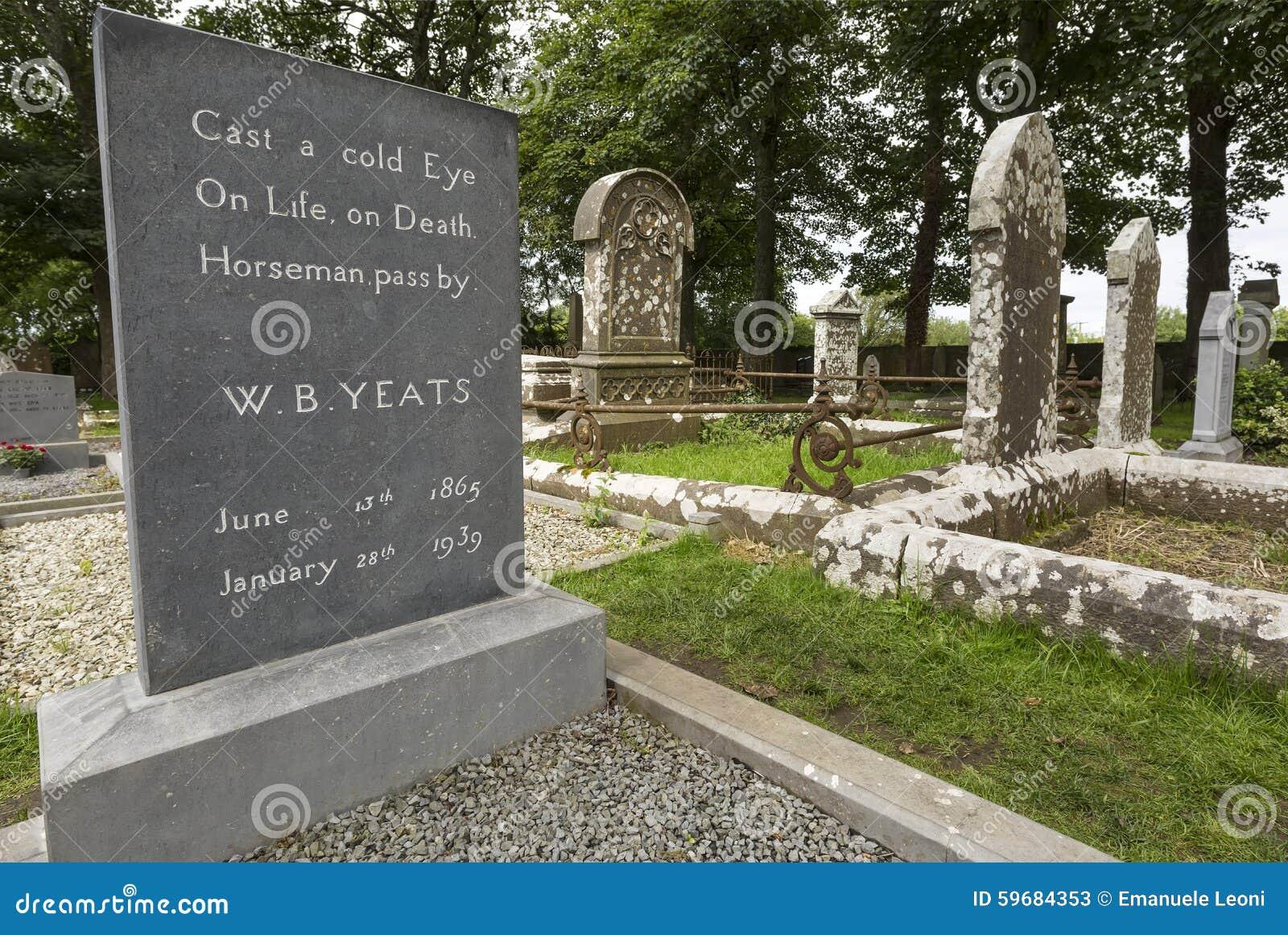 William Butler Yeats grave in Drumcliff, County Sligo, Ireland.