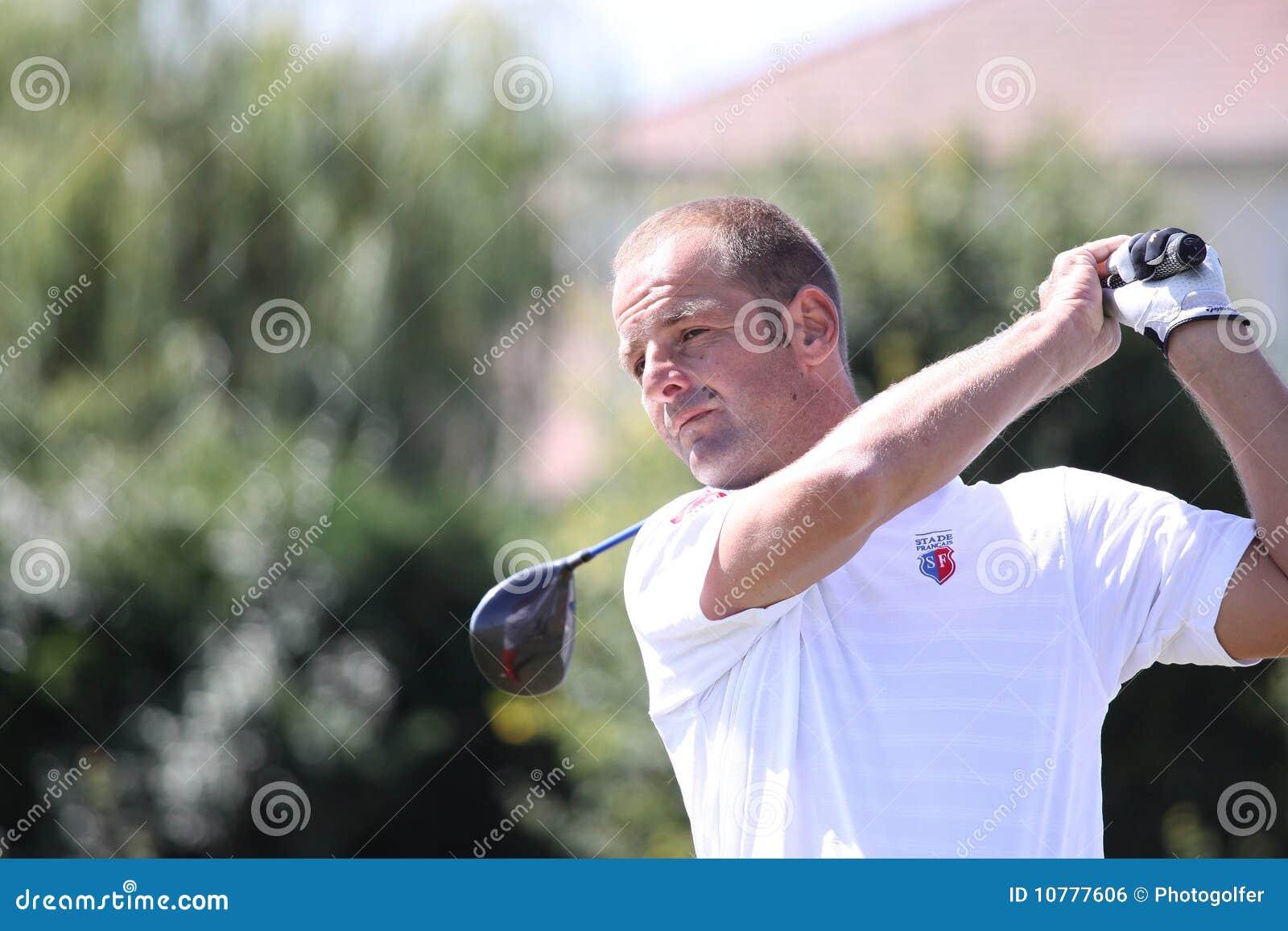 William Hees bij het golf Prevens Trpohee 2009