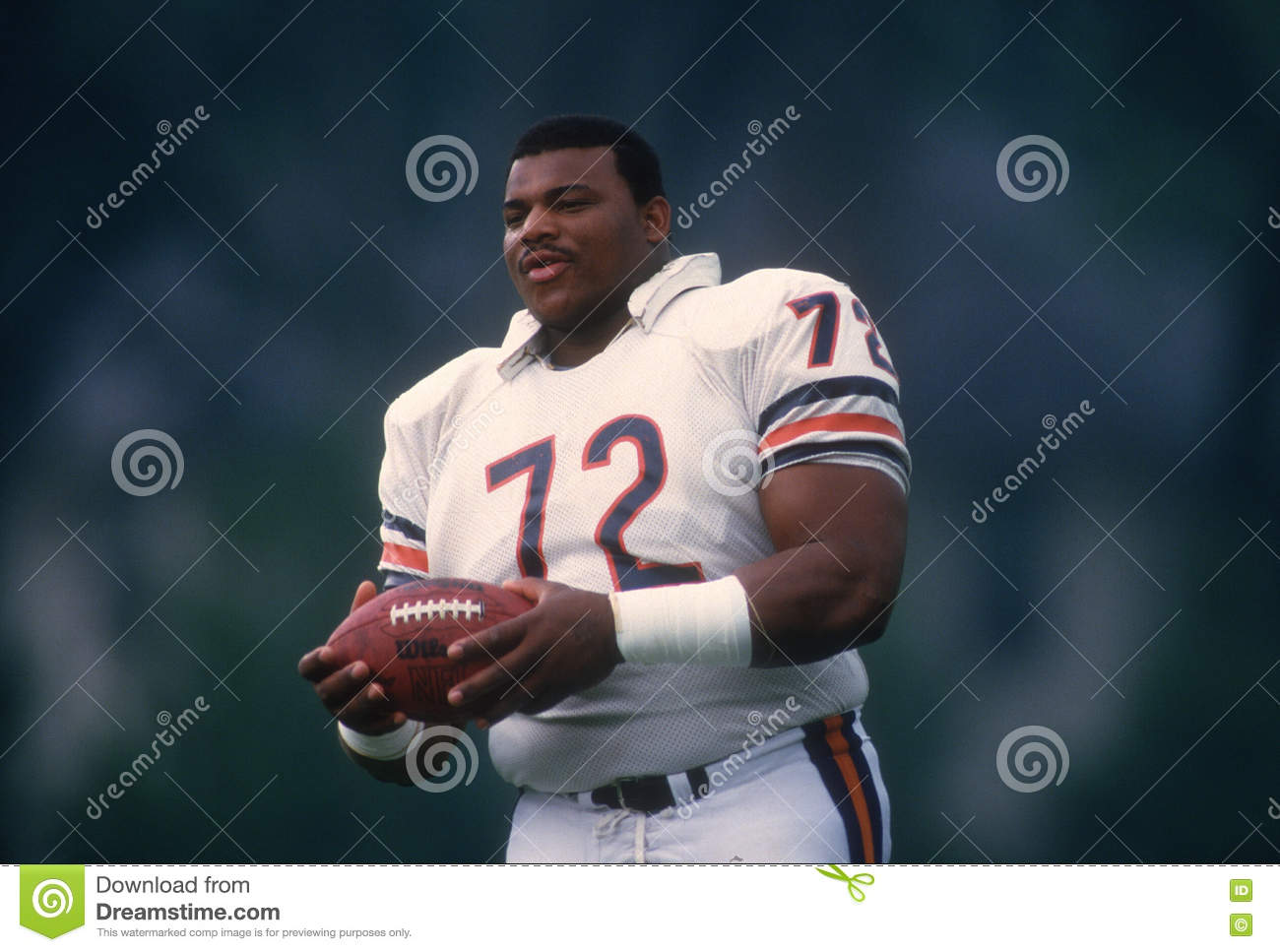 cheap for discount a1d08 cdf41 William Perry Chicago Bears Editorial Stock Image - Image of ...