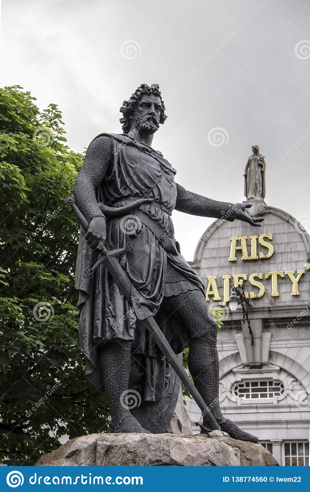 William Wallace statua, Aberdeen, Szkocja