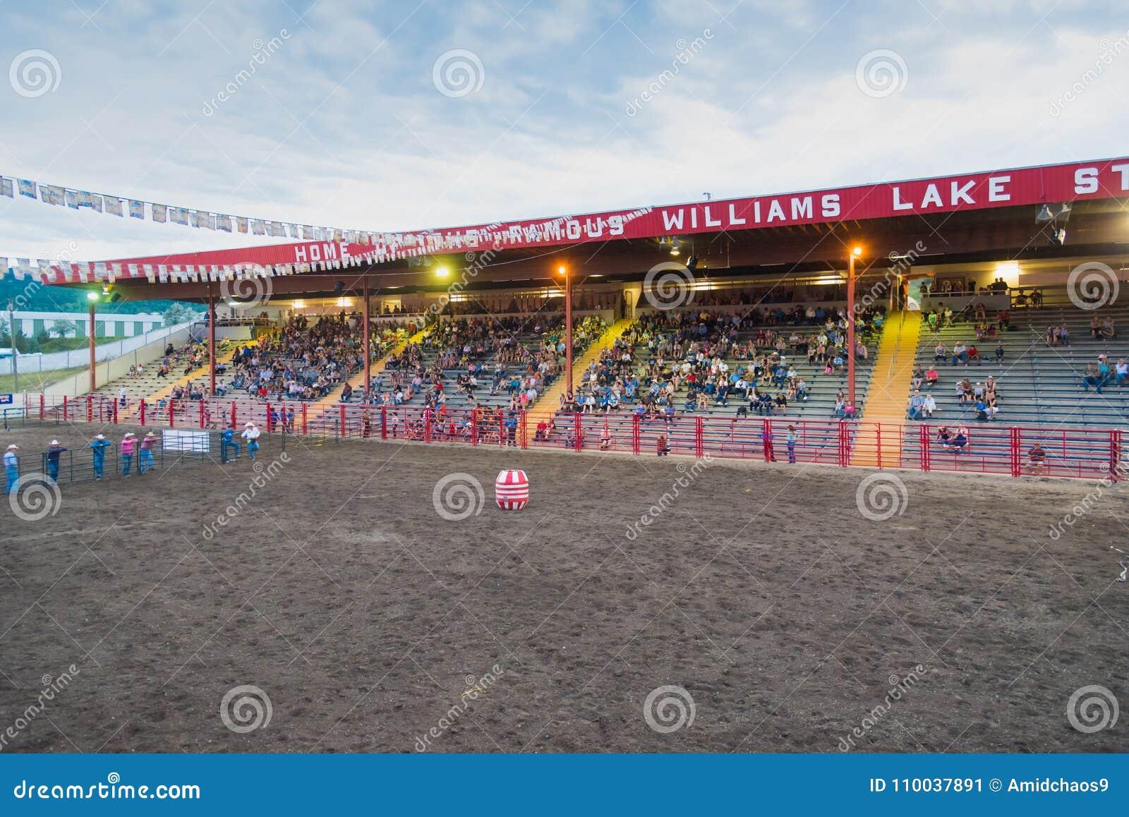 Williams Lake Stampede Park arena och ställningar