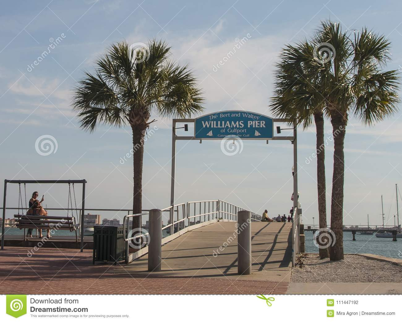 Williams Pier Of Gulfport editorial photography  Image of