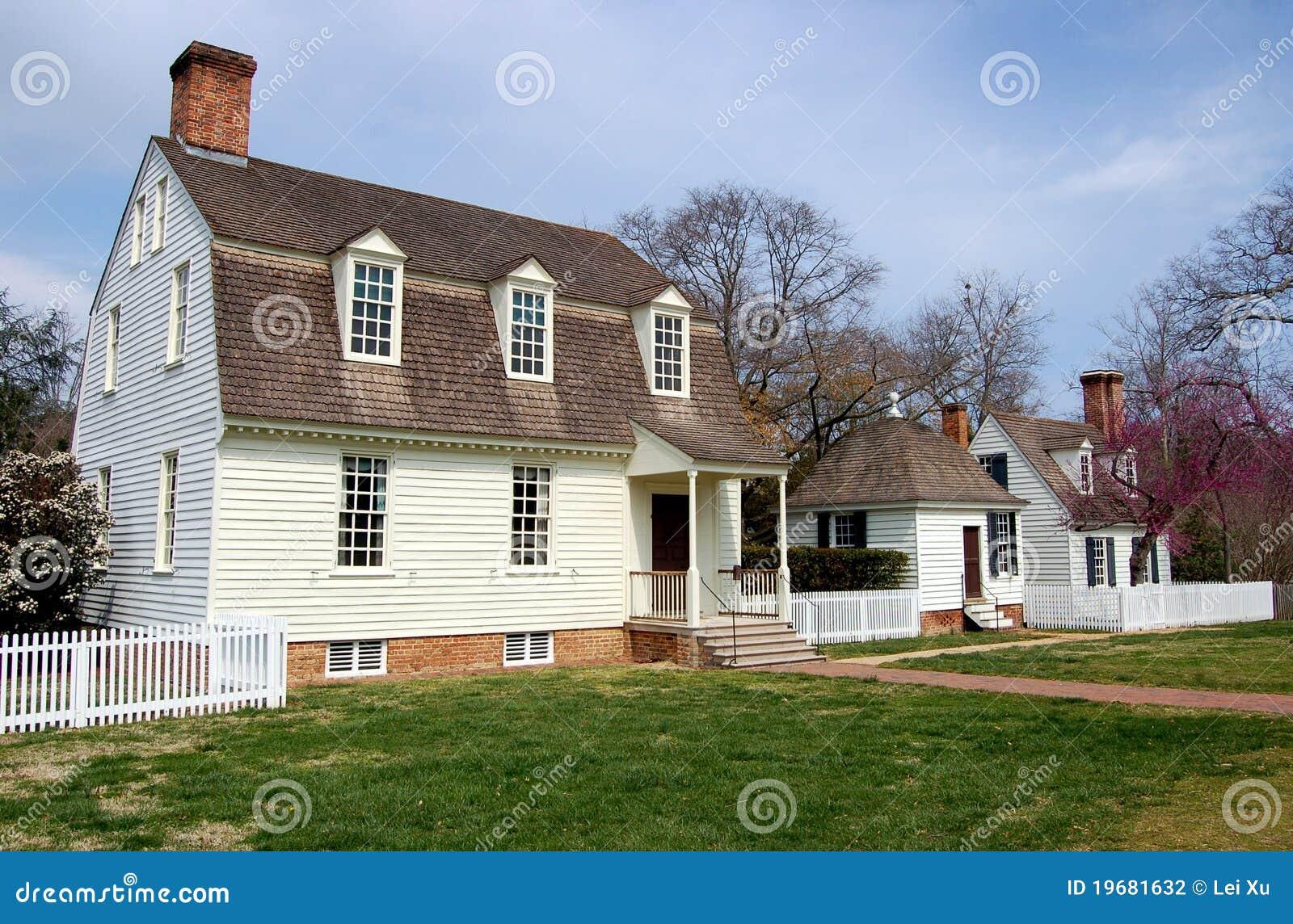 Williamsburg VA 1730 Co John Taylor House Stock