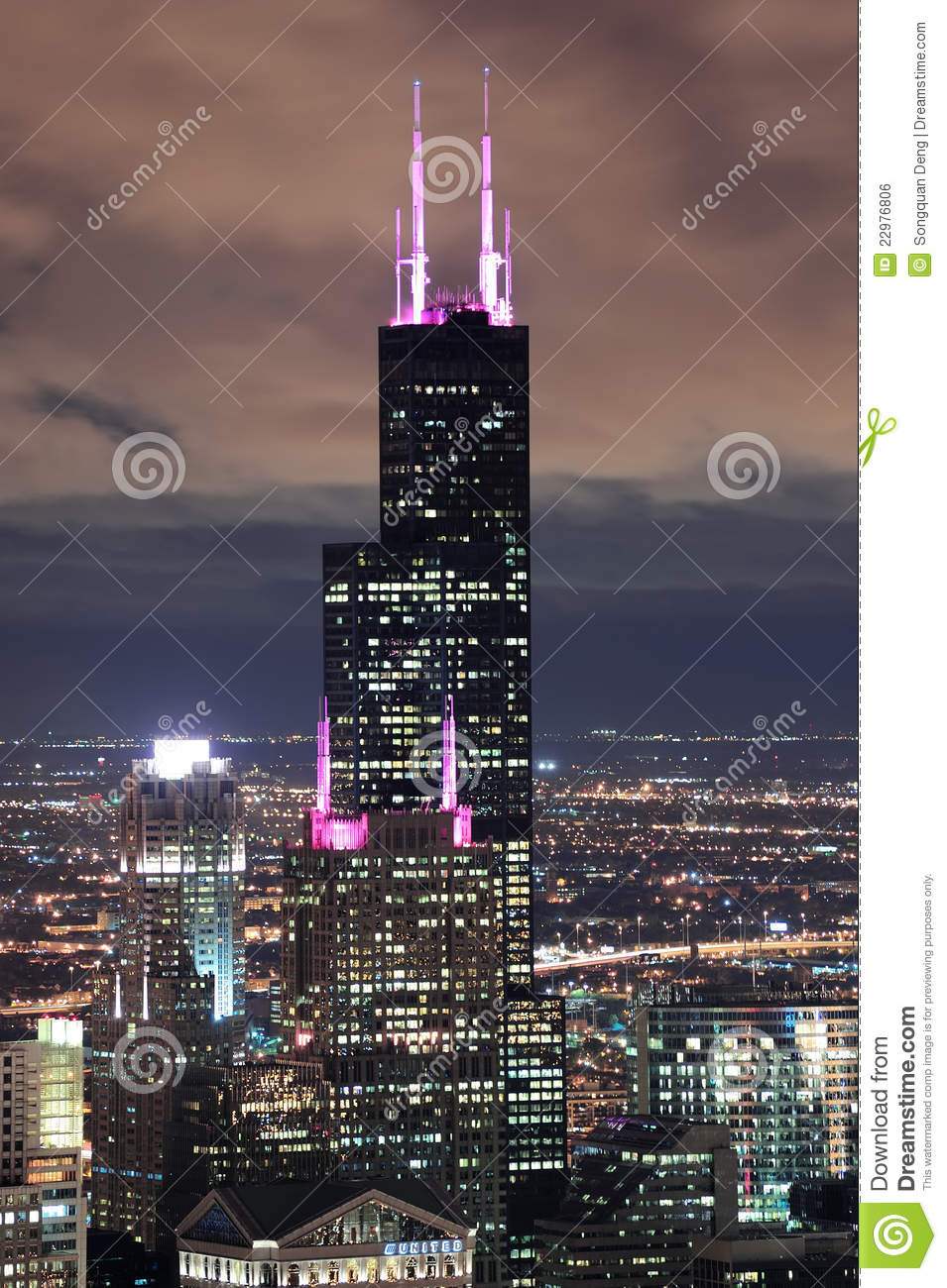 Willis Tower In Chicago Editorial Photo Image Of Rooftop