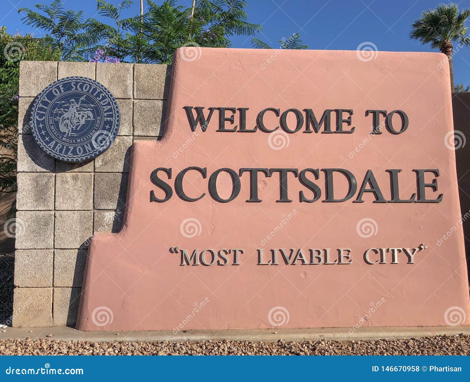 Willkommen nach Scottsdale Arizona, Zeichen
