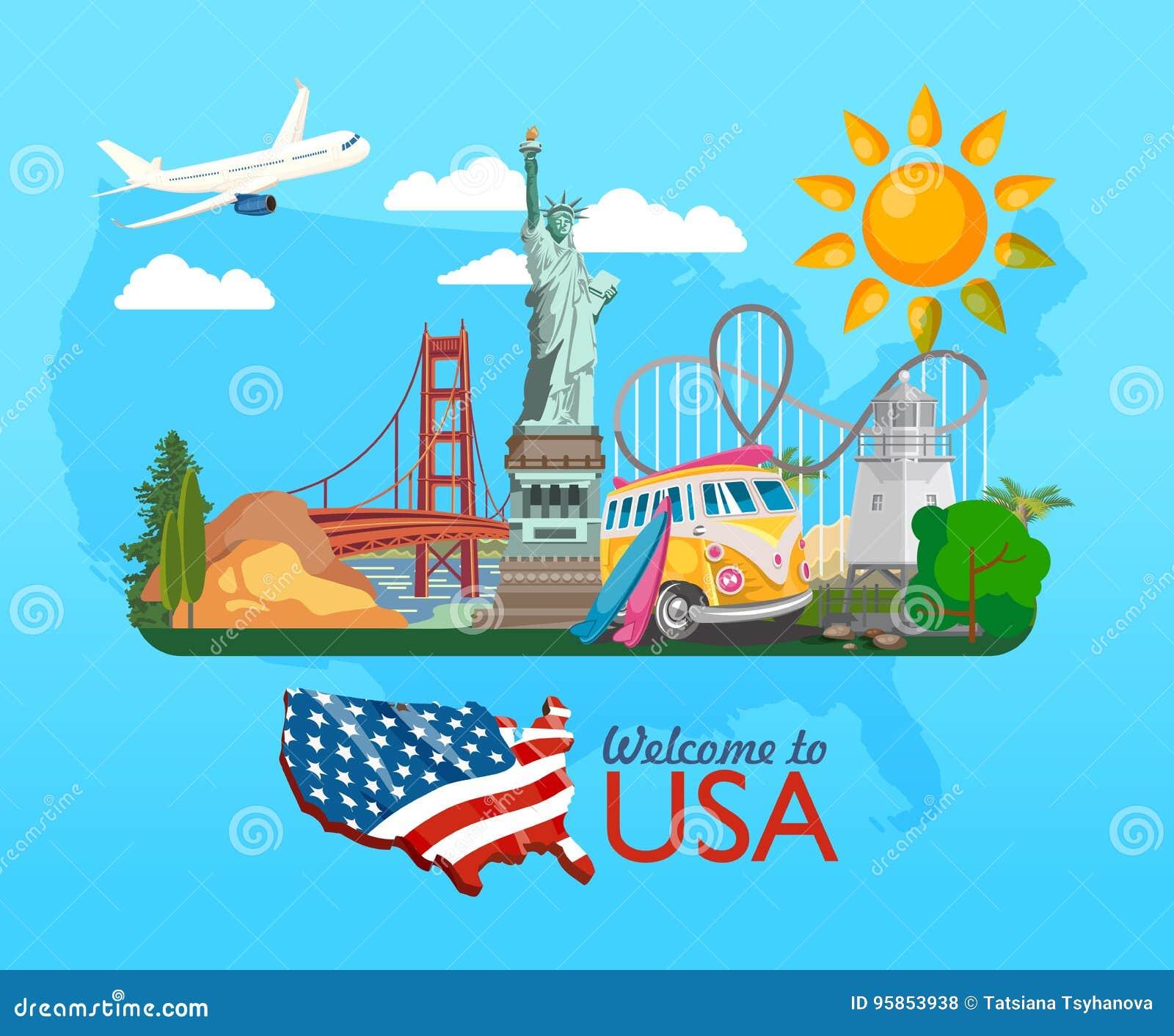 Briefe Nach Usa Preise : Willkommen nach usa plakat der vereinigten staaten von