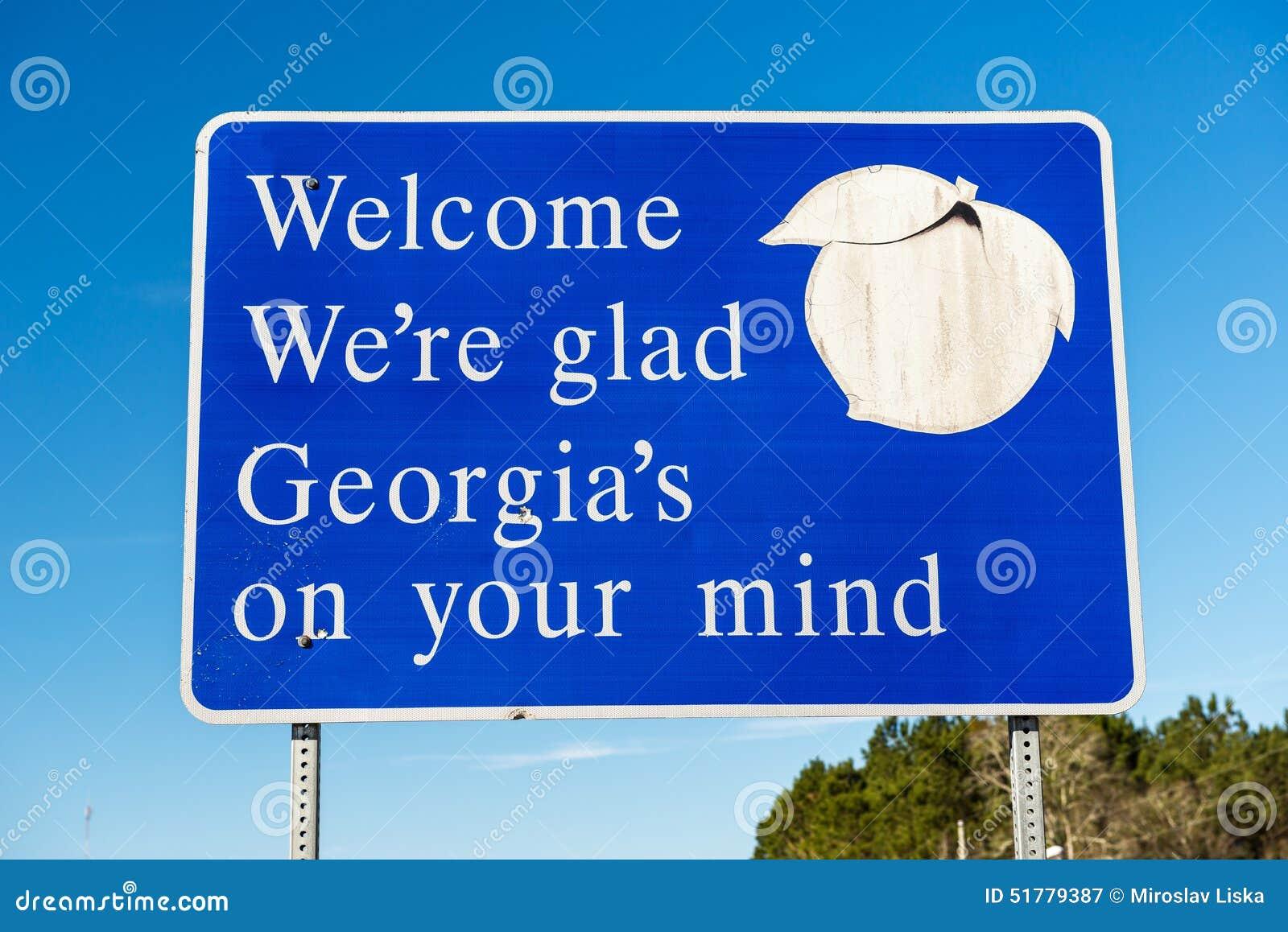 Willkommen zum Georgia-Zeichen