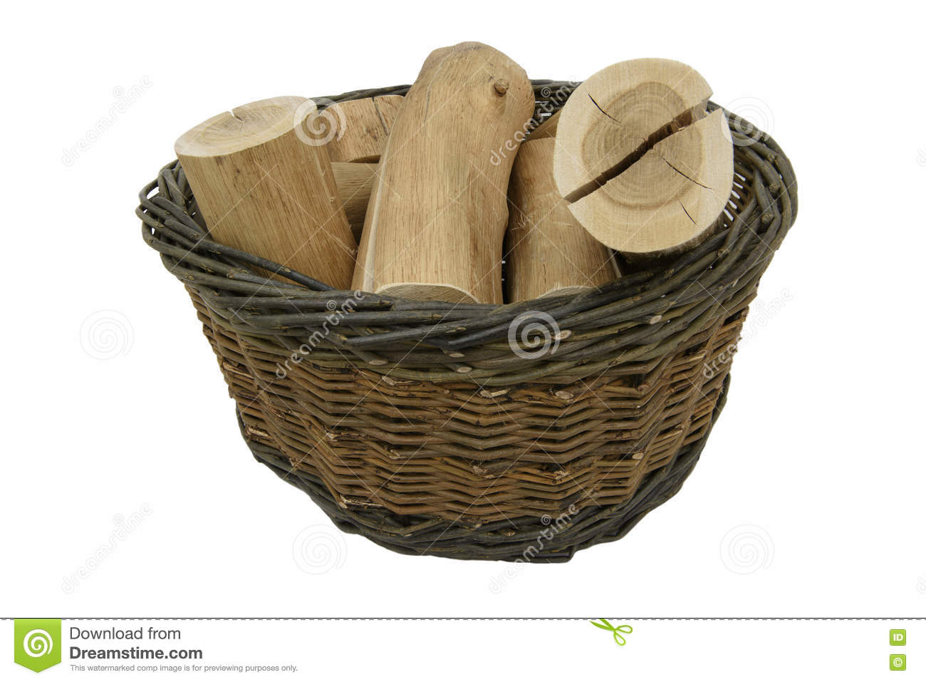 Willow Basket and logs