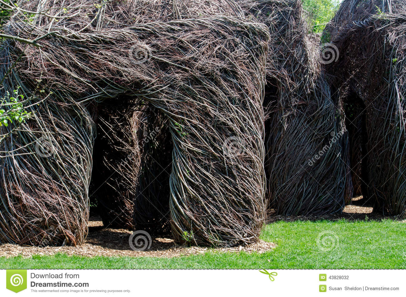 Willow Twig Walkway In A Garden Editorial Photography Image 43828032