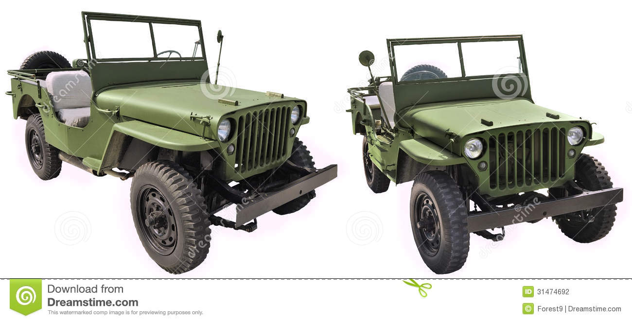 Ww2 Jeep Willys MB - U.S. Army Road Vehicle Stock Photography ...