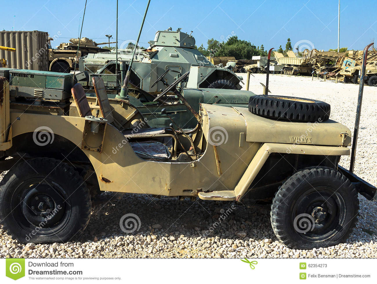 Willys Mb U S Army Truck 1 4 Ton 4x4 Or Ford Gpw Latrun Israel Editorial Stock Photo