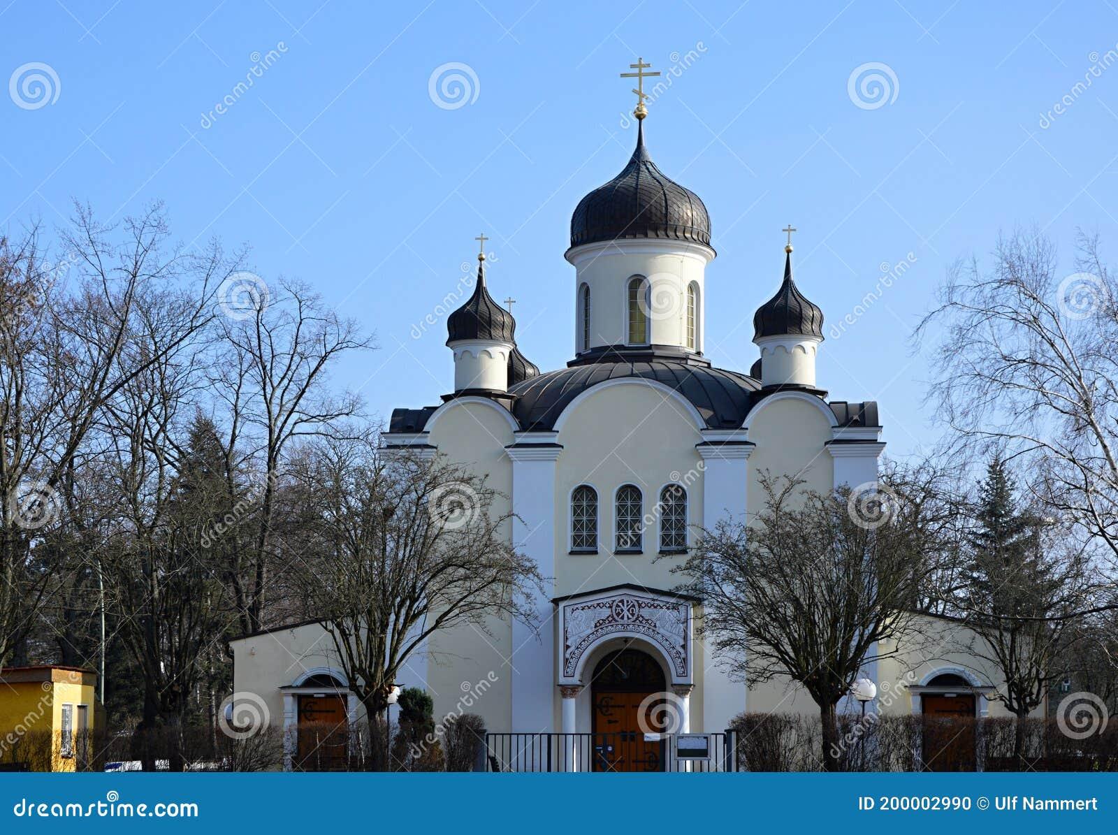 Wilmersdorf Orthodoxe Kirche In Berlin Stockfoto - Bild
