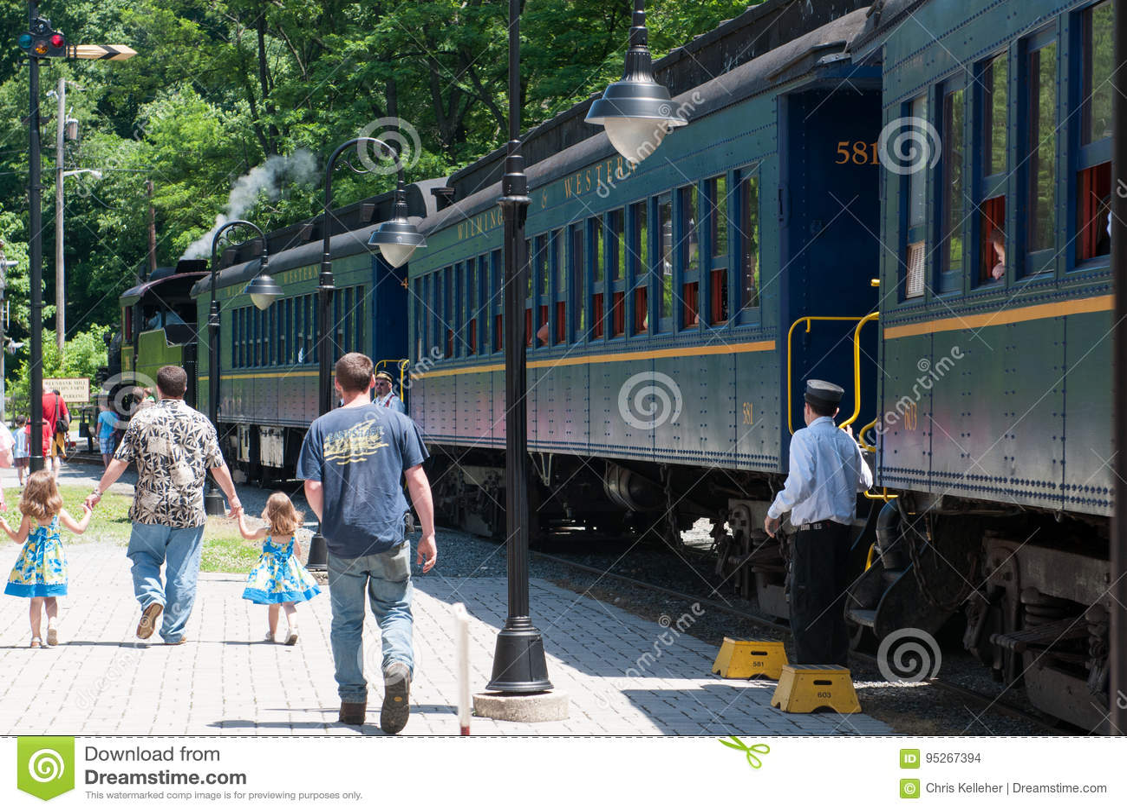 WILMINGTON, DE 15 JUIN : Wilmington et voie ferrée occidentale est une ligne de train d héritage pour des visiteurs allant sur to