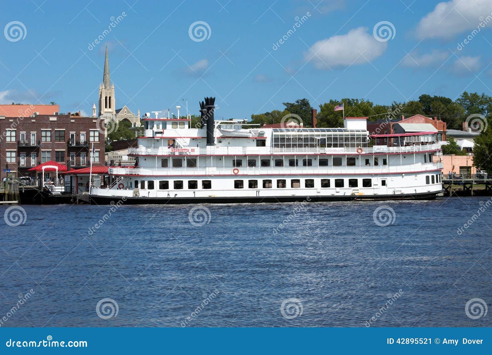 Wilmington Riverboat för NC USA Juli 17,2014 Henrietta III