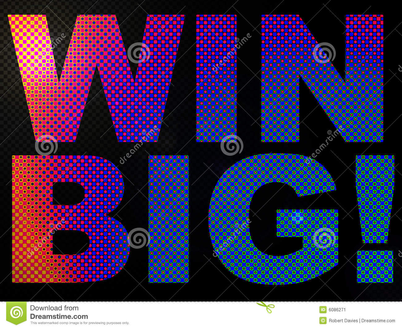 Pink Led Lights >> WIN BIG Prize Sign Lit With LED Lights Stock Image - Image: 6086271