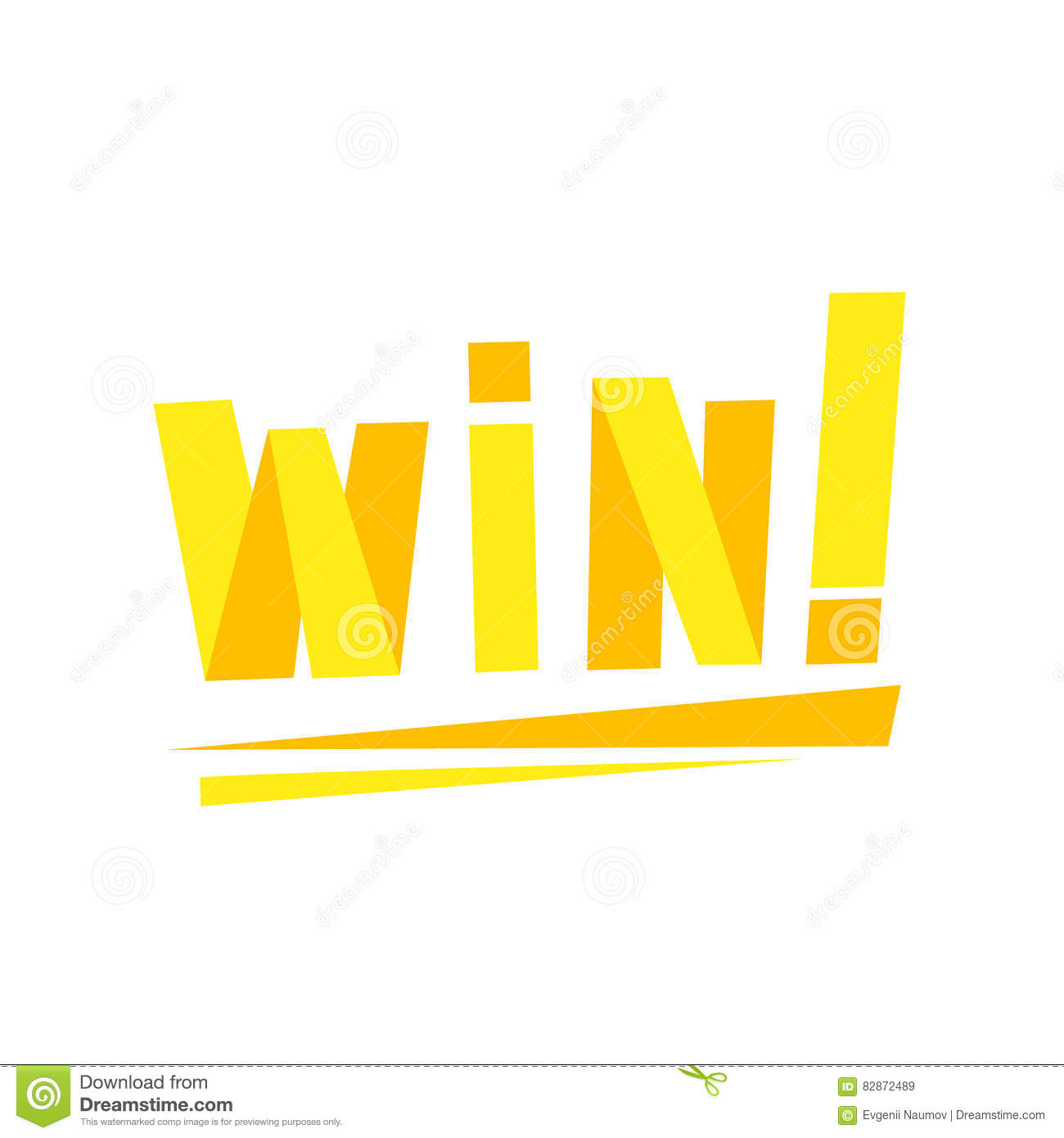 Win congratulations sticker with yellow letters design template for download win congratulations sticker with yellow letters design template for video game winning finale stock vector spiritdancerdesigns Gallery