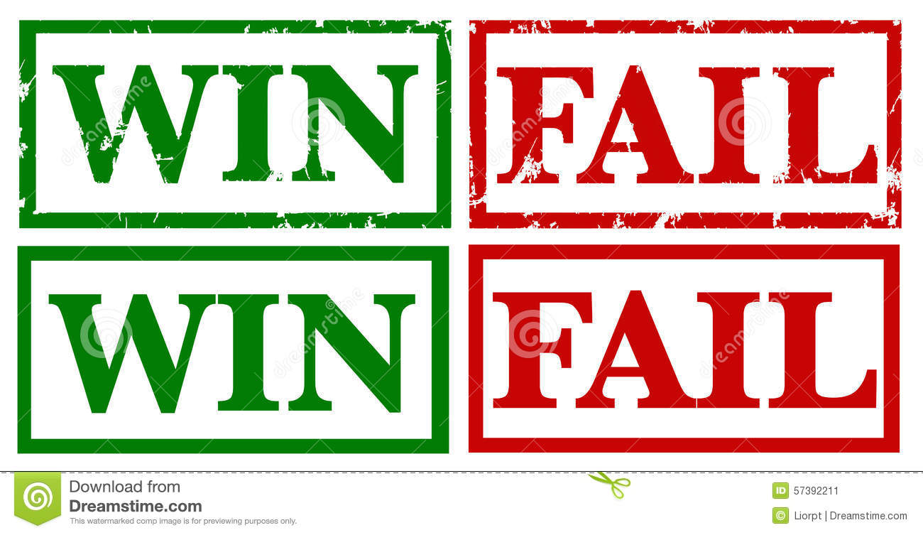 Win And Fail Rubber Stamps Vector Stock Vector ...