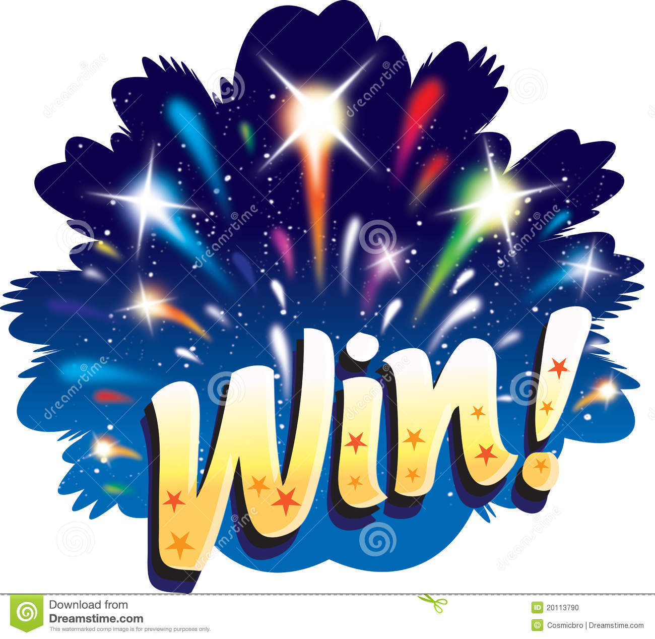 Win! Graphic fun explosion firework logo design icon competition happy ...