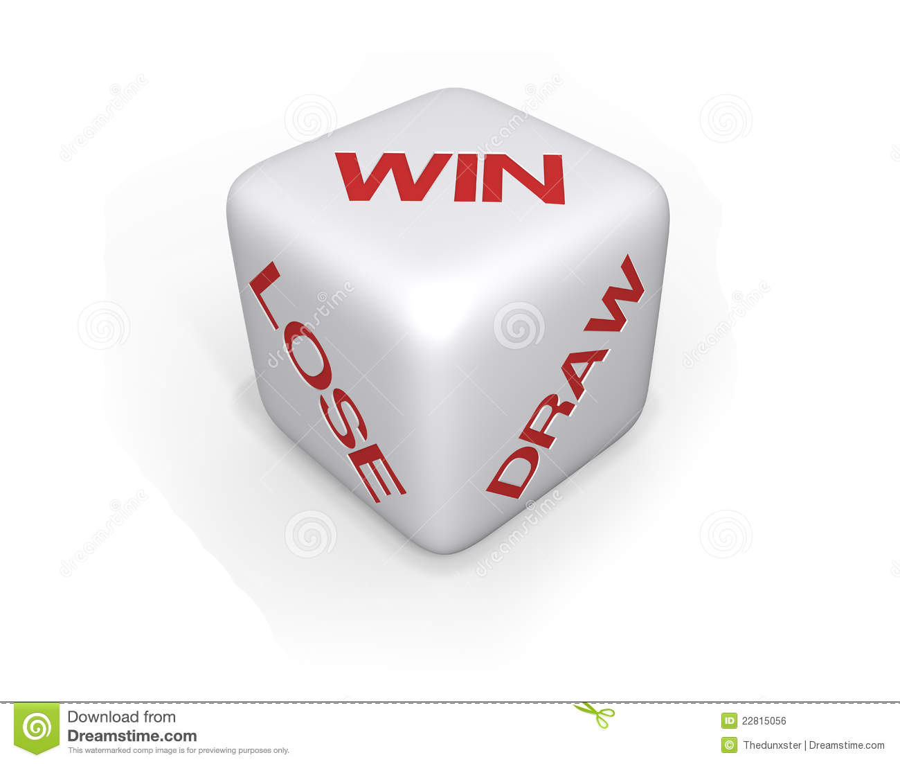 Win Lose Or Draw Dice Xl Stock Illustration Illustration Of