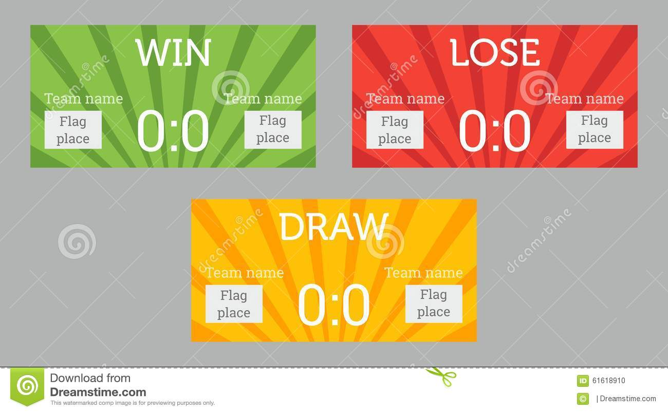 Win Lose Draw Patterns Stock Vector Illustration Of Lose 61618910