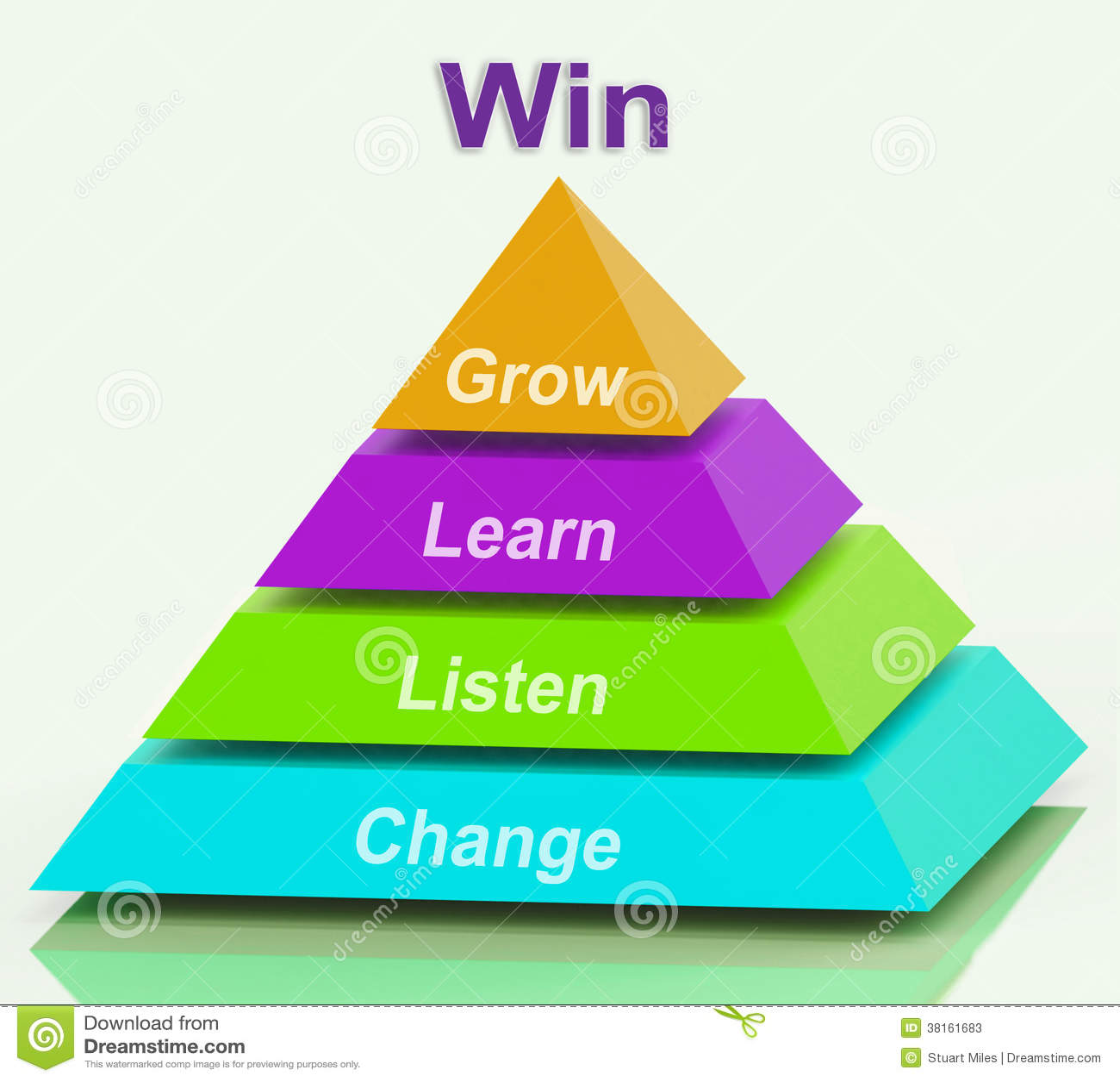 win pyramid shows success accomplishment stock photos image win pyramid shows success accomplishment
