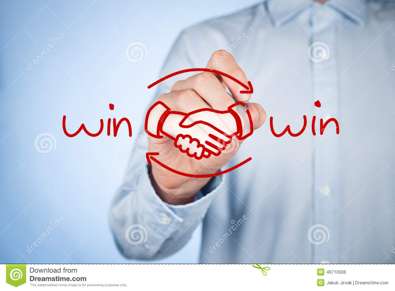 Draw Plan Win Win Strategy Stock Photo Image 46710006