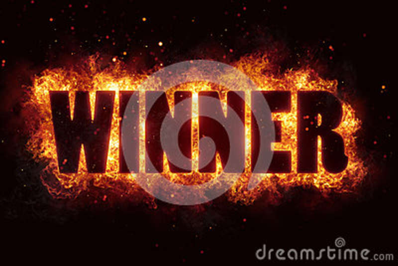 Win winner game fire burn flame text is explode