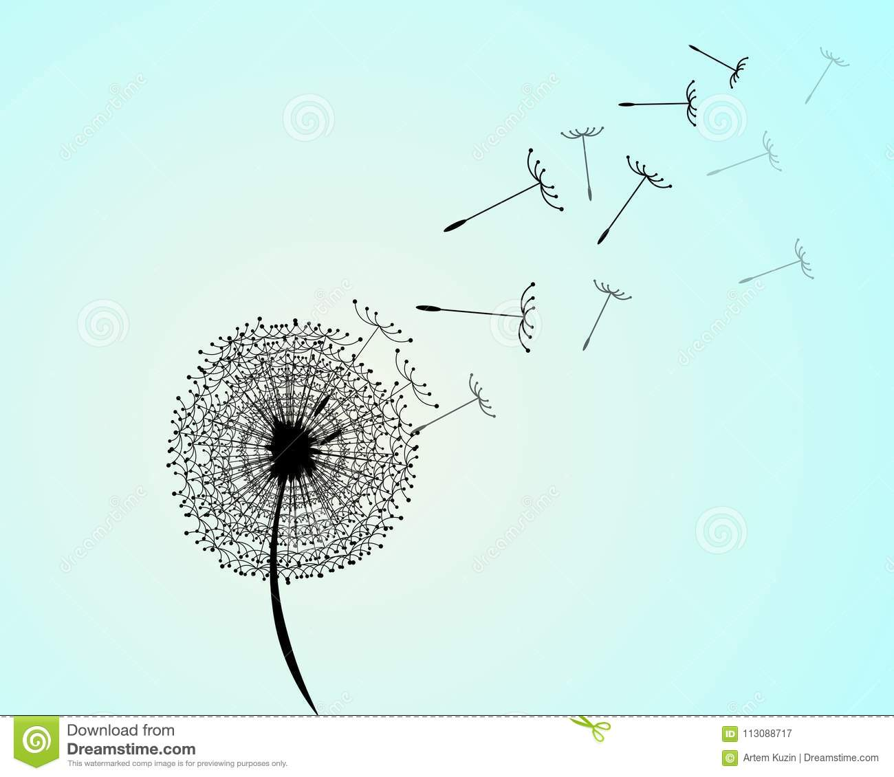 Wind has blown on a dandelion stock vector illustration of wind has blown on a dandelion ccuart Image collections