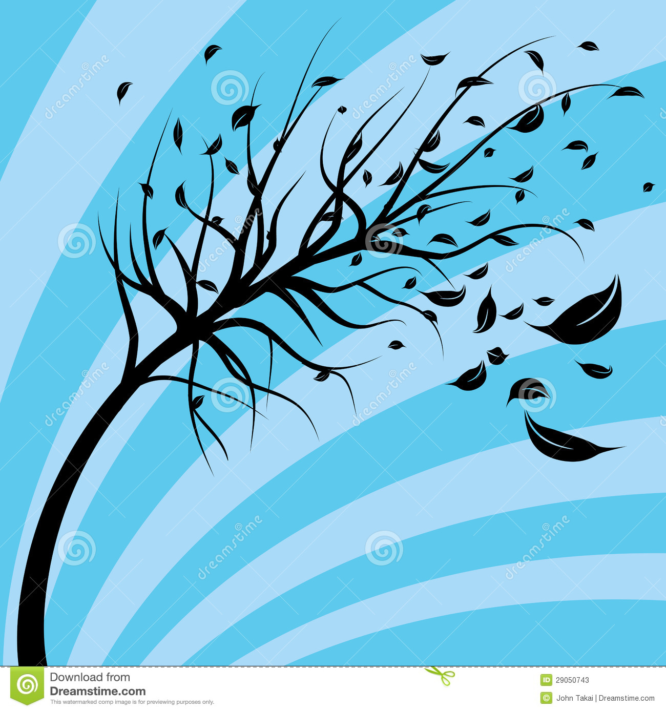 Wind Blown Tree Stock Photos - Image: 29050743