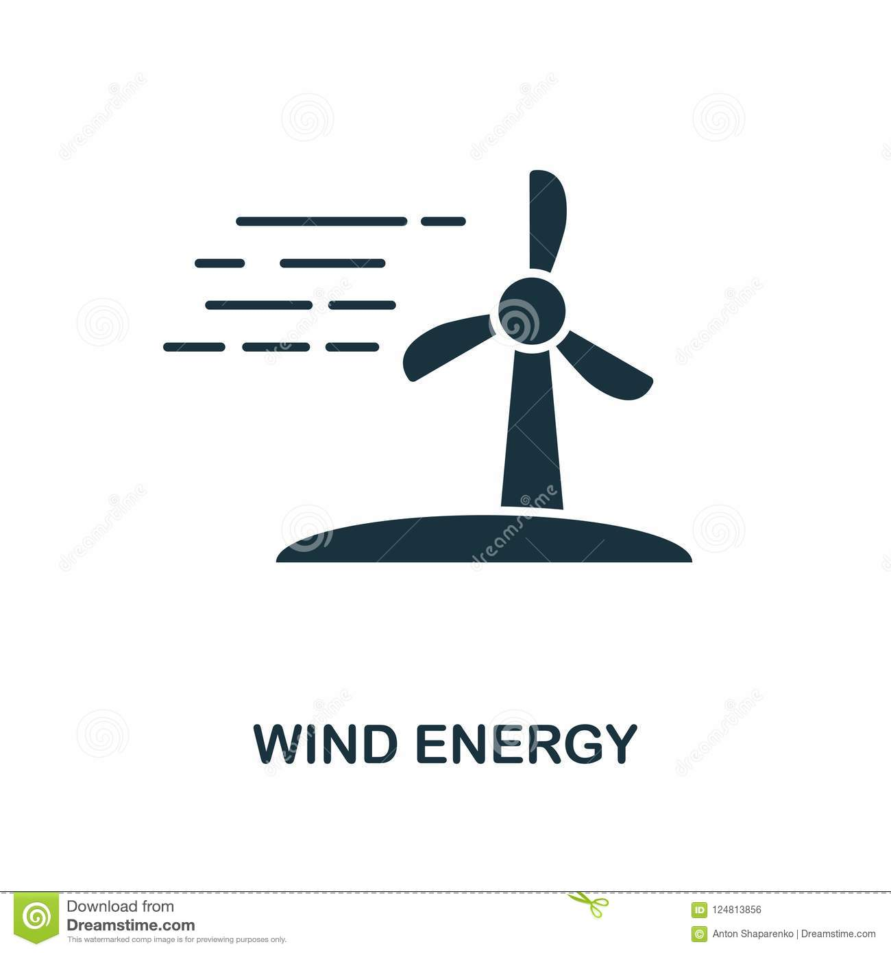 Wind Energy Icon Monochrome Style Design From Power And Energy Icon Collection Ui Pixel Perfect Simple Pictogram Wind Energy Ic Stock Illustration Illustration Of Environment Renewable 124813856