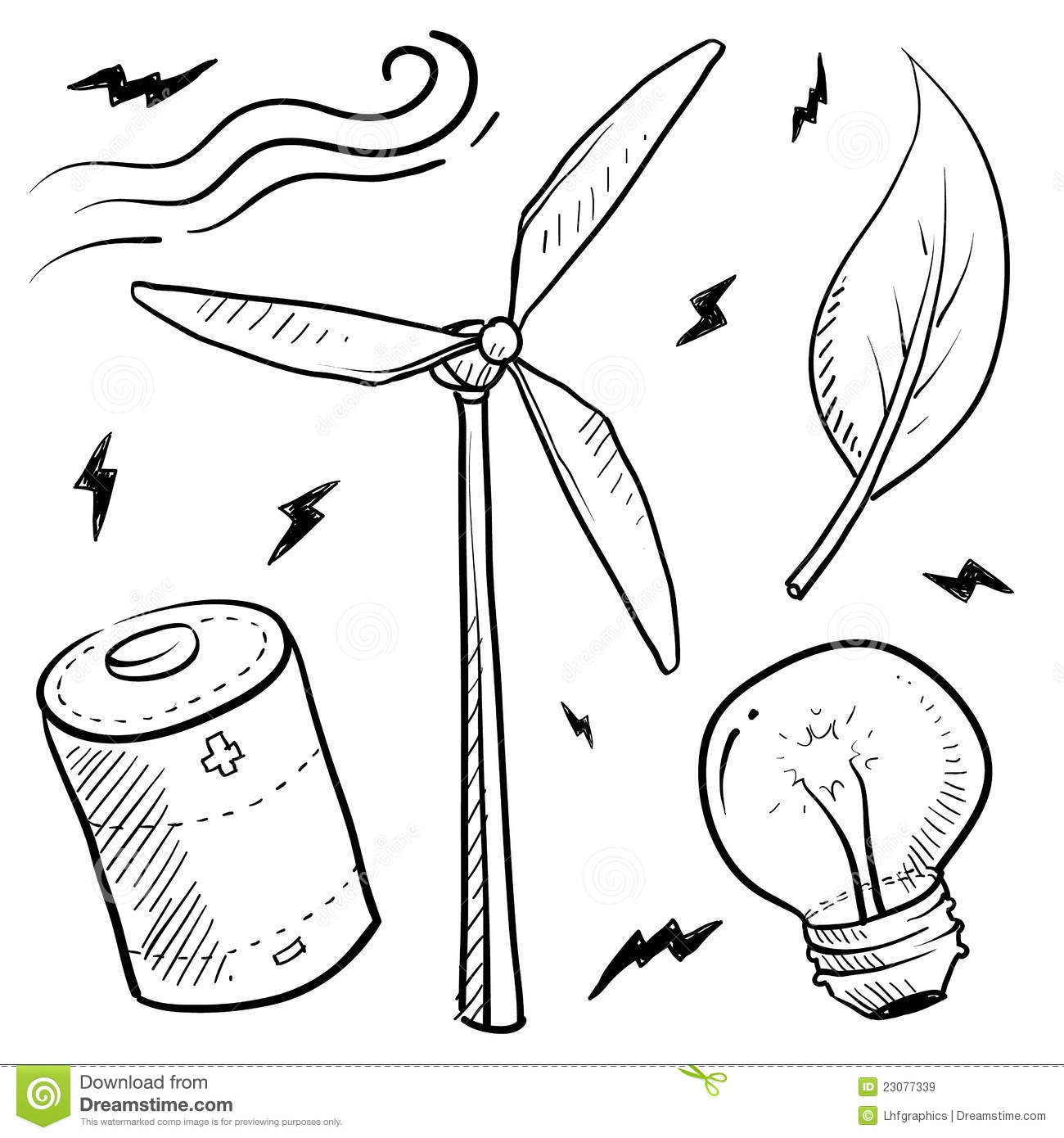 how to draw a simple uncoloured windmill