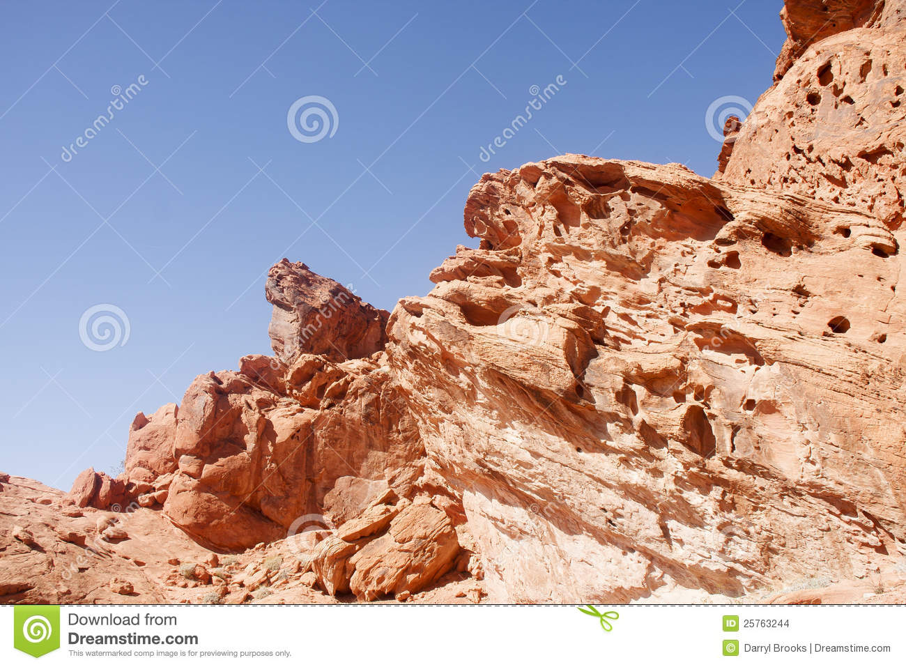 Wind Erosion In Red Rock Stock Images - Image: 25763244