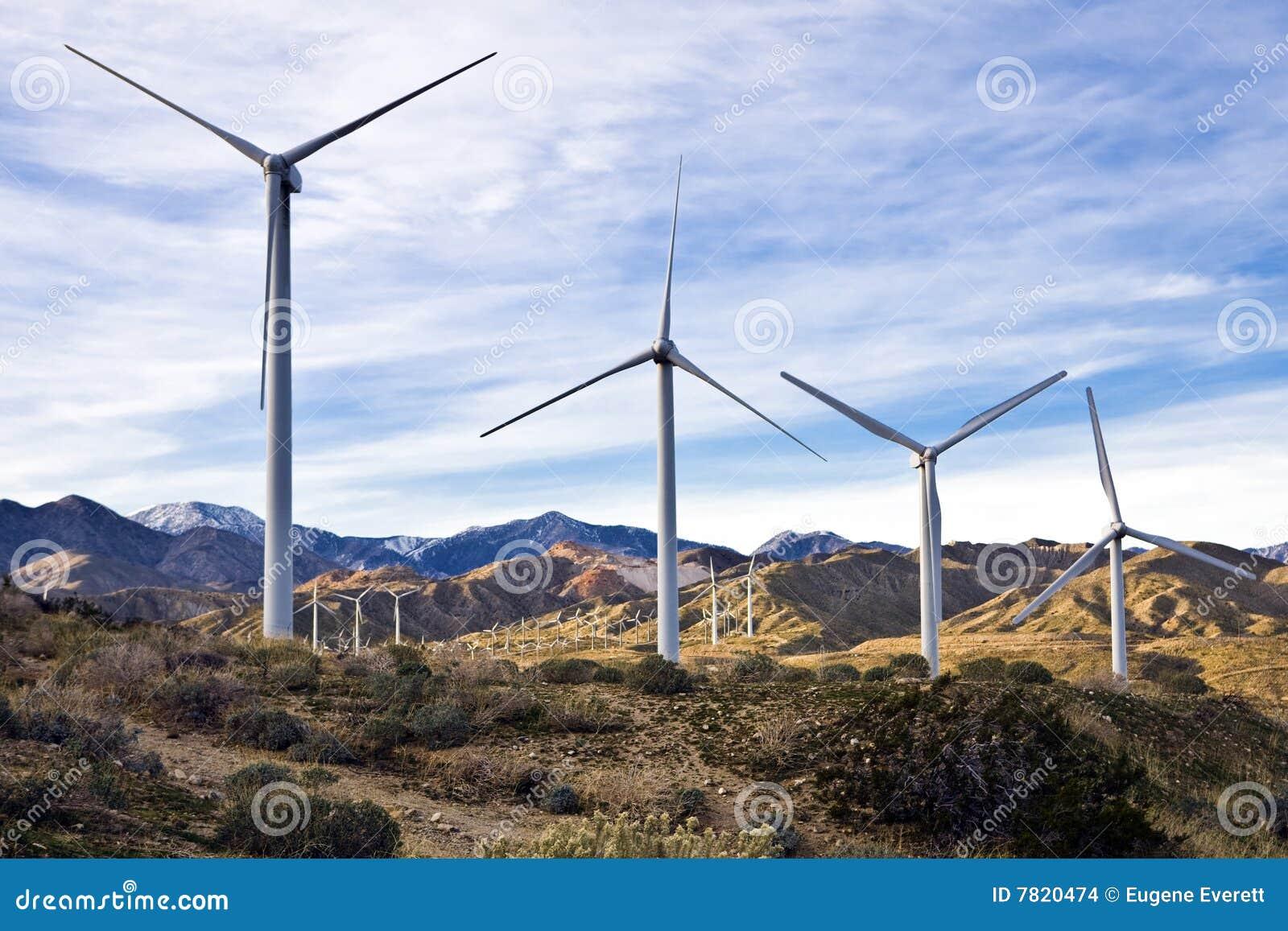 Wind Farm Five Stock Photo Image Of California Clean