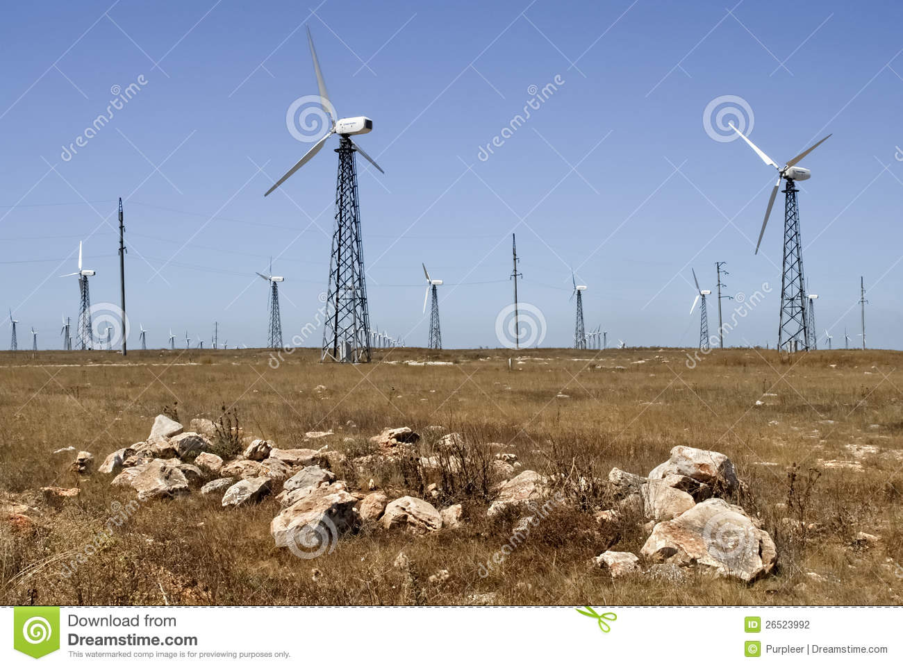 Wind generator of the electric power in the stony steppe in the Crimea ...
