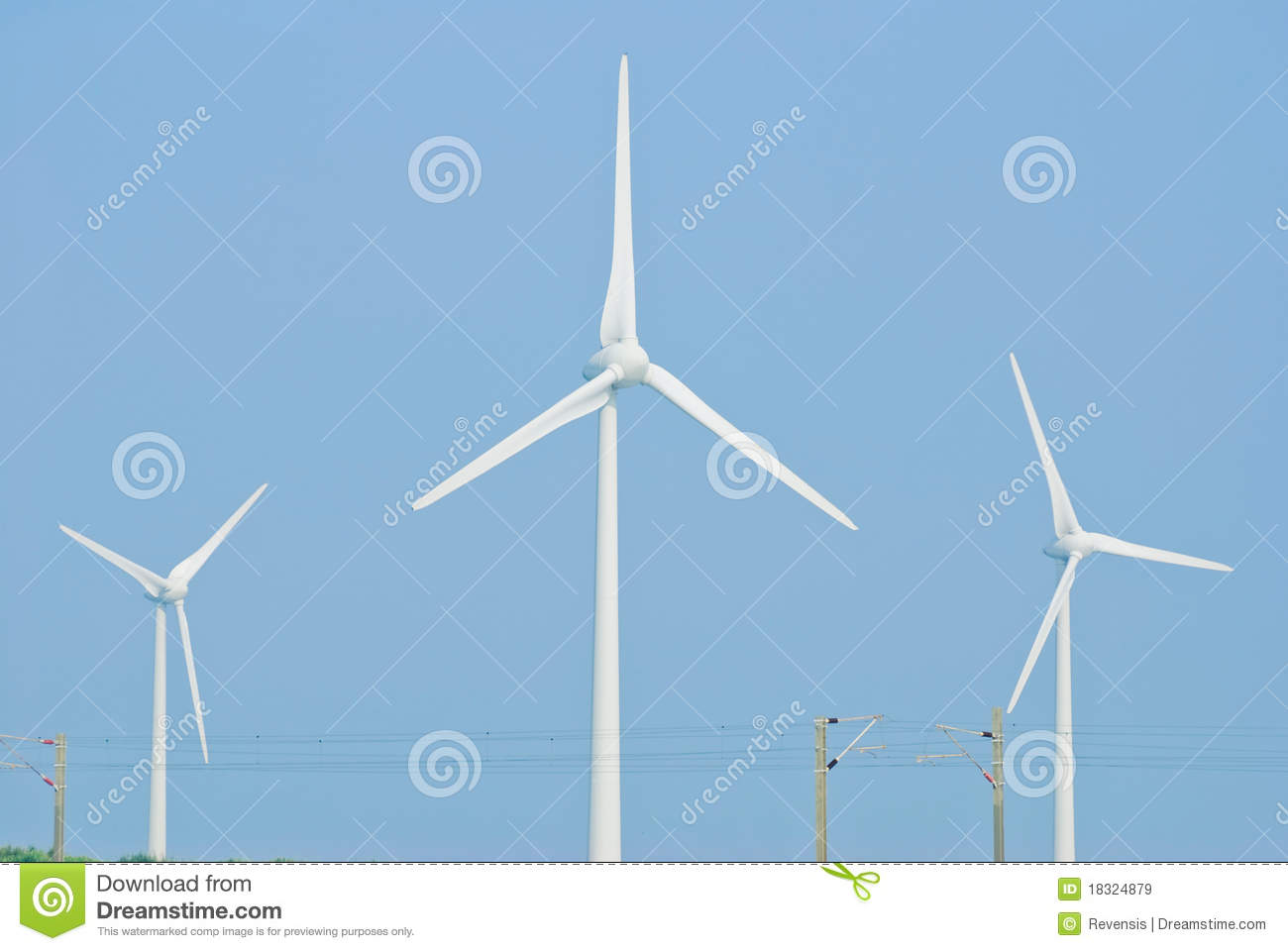 Wind Power Generation Machine Royalty Free Stock Images - Image ...