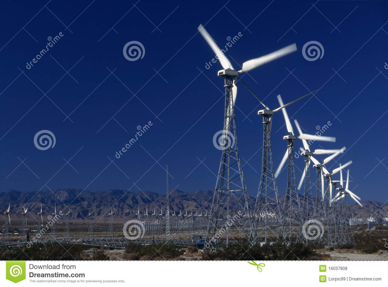 Wind Power Generators Royalty Free Stock Photos - Image: 16037808