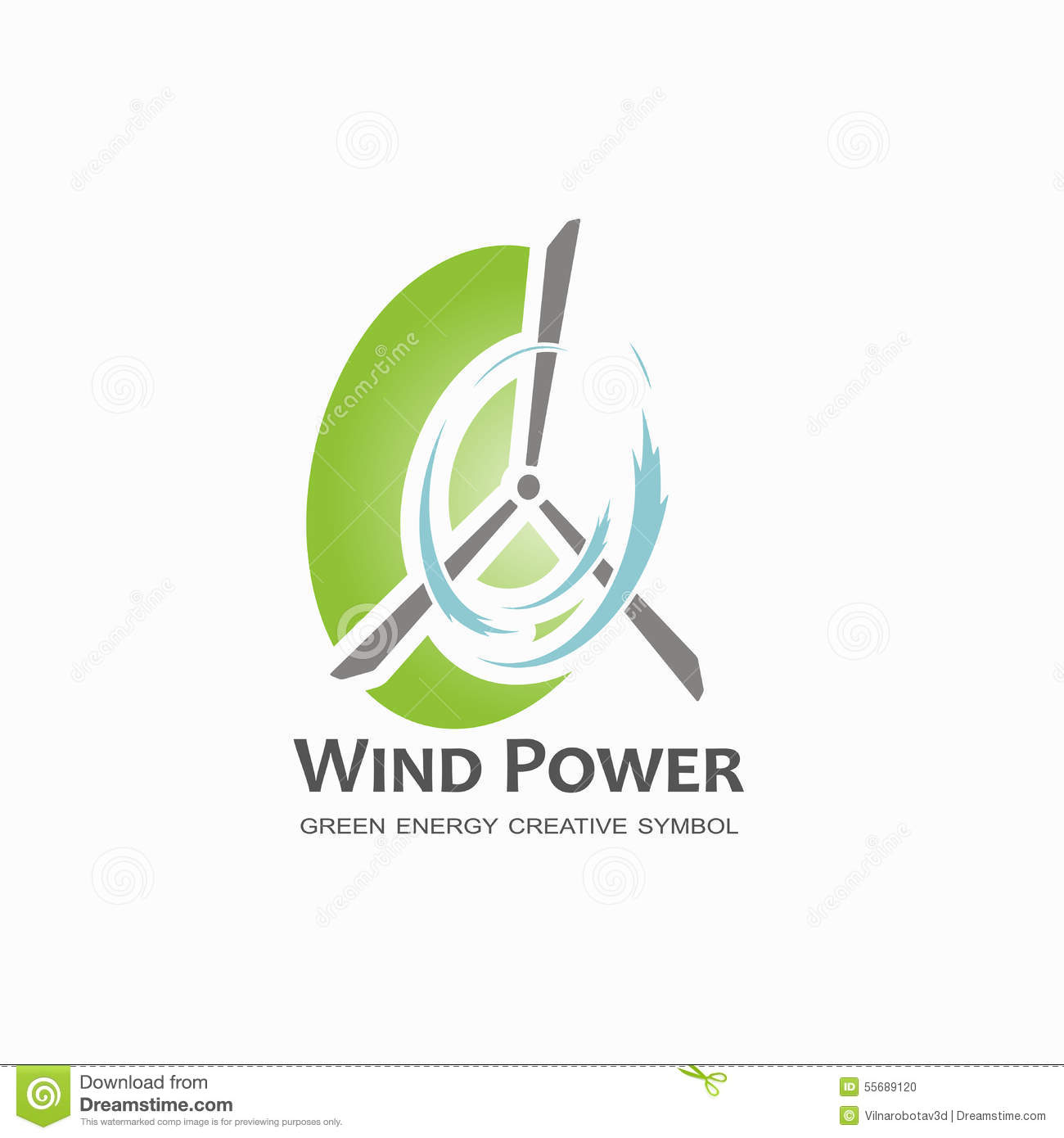 Wind Power Logo Design Template. Stock Vector - Illustration: 55689120 for Logo Design Samples Free Download  35fsj