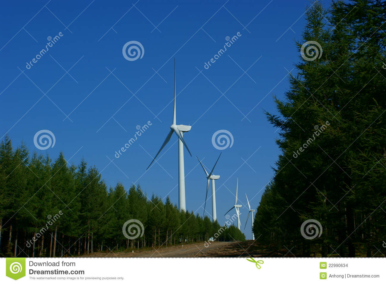 Wind Power Plant Stock Images - Image: 22990634