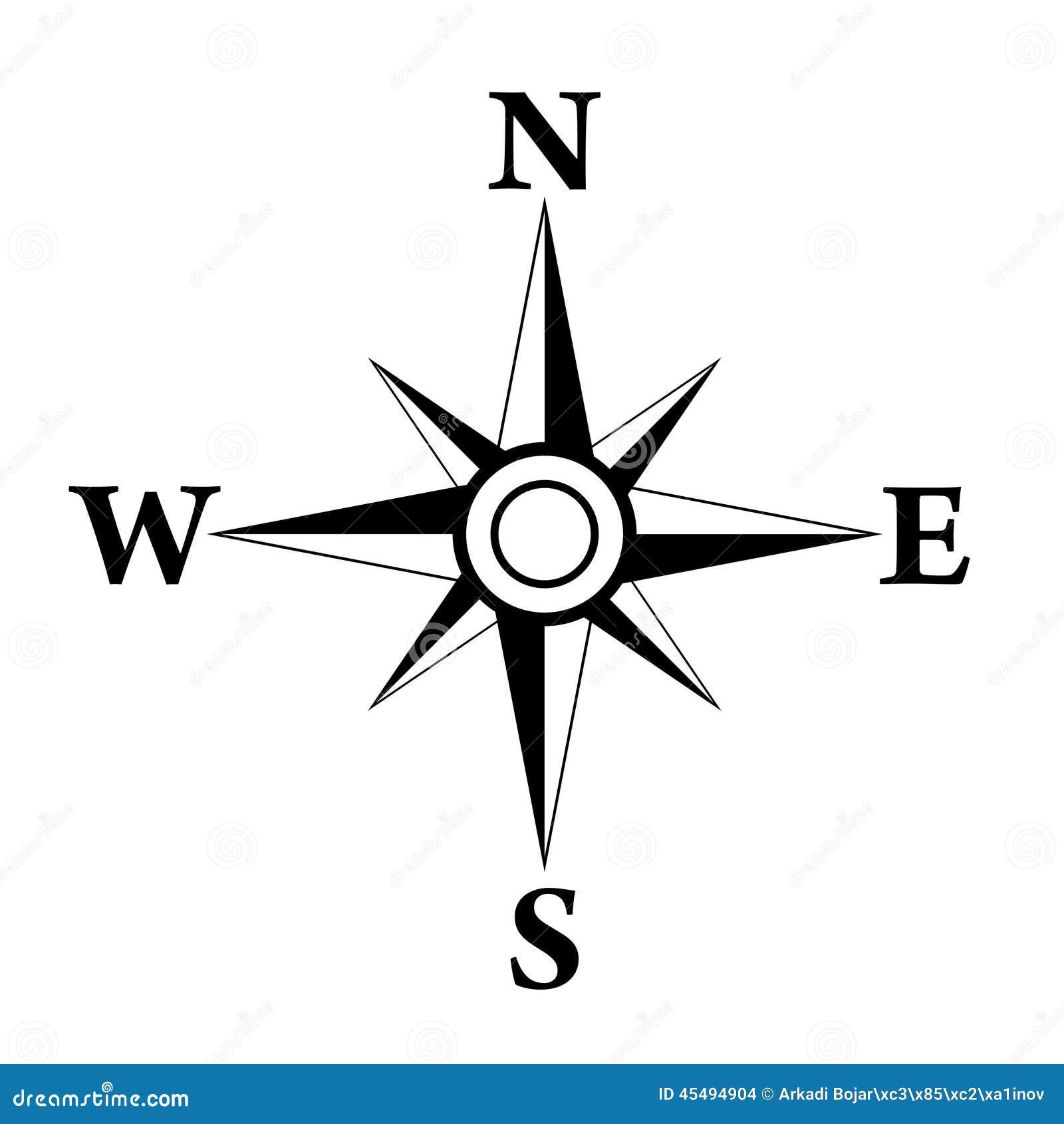 Wind rose symbol stock vector. Illustration of shape ...