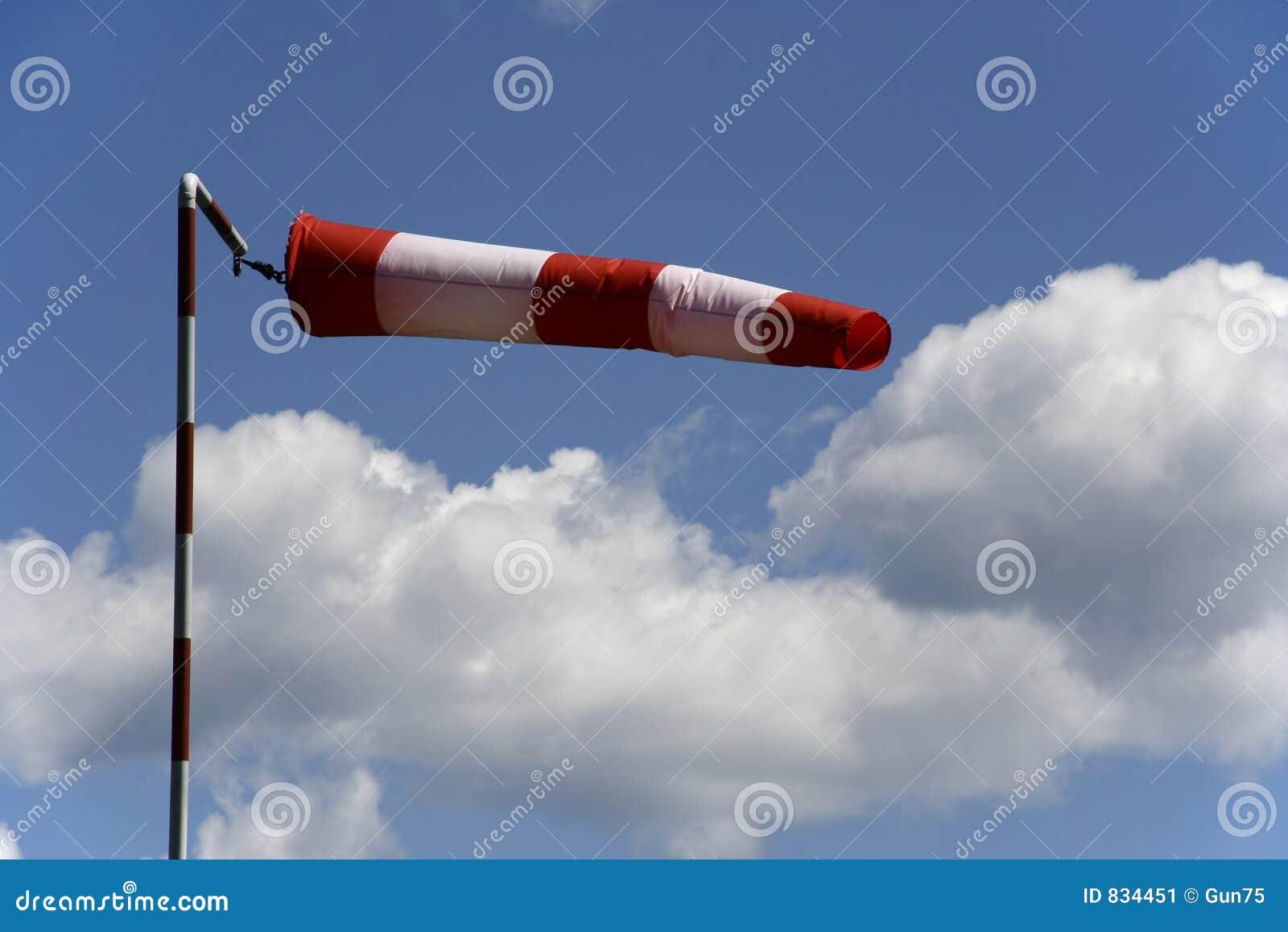 Wind sock and sky