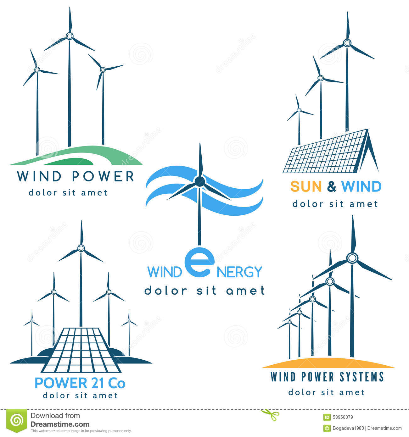 Wind and sun power making logo stock vector illustration of icon download comp voltagebd Image collections