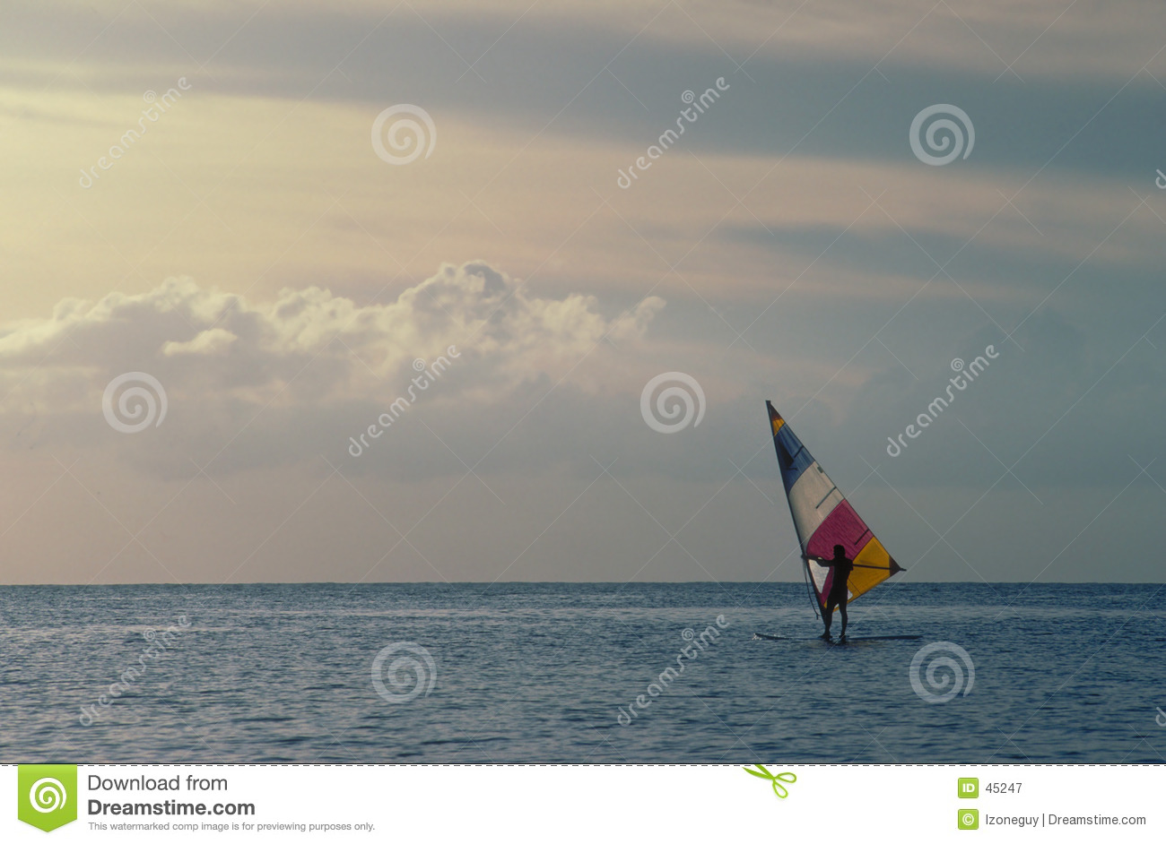 Download Wind Surfer stock image. Image of water, surfer, clouds - 45247
