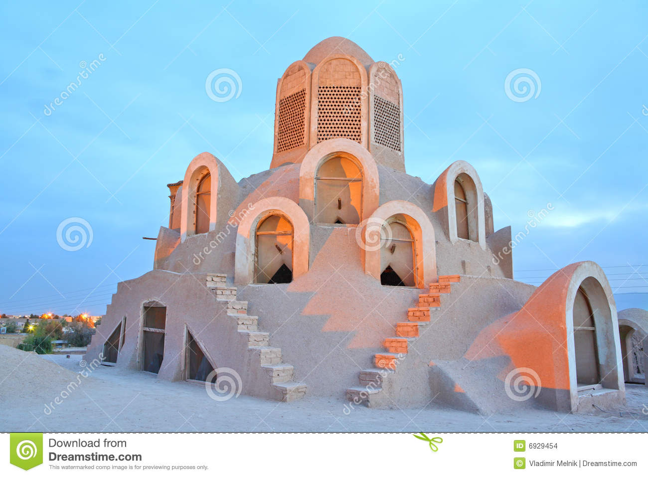 Wind Tower Borujerdi House Kashan Iran Stock Photo