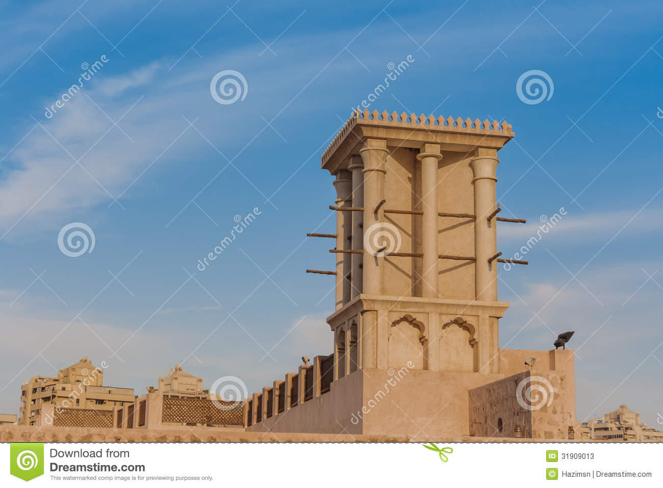Wind tower in sharjah stock photos image 31909013 for Builders in my area