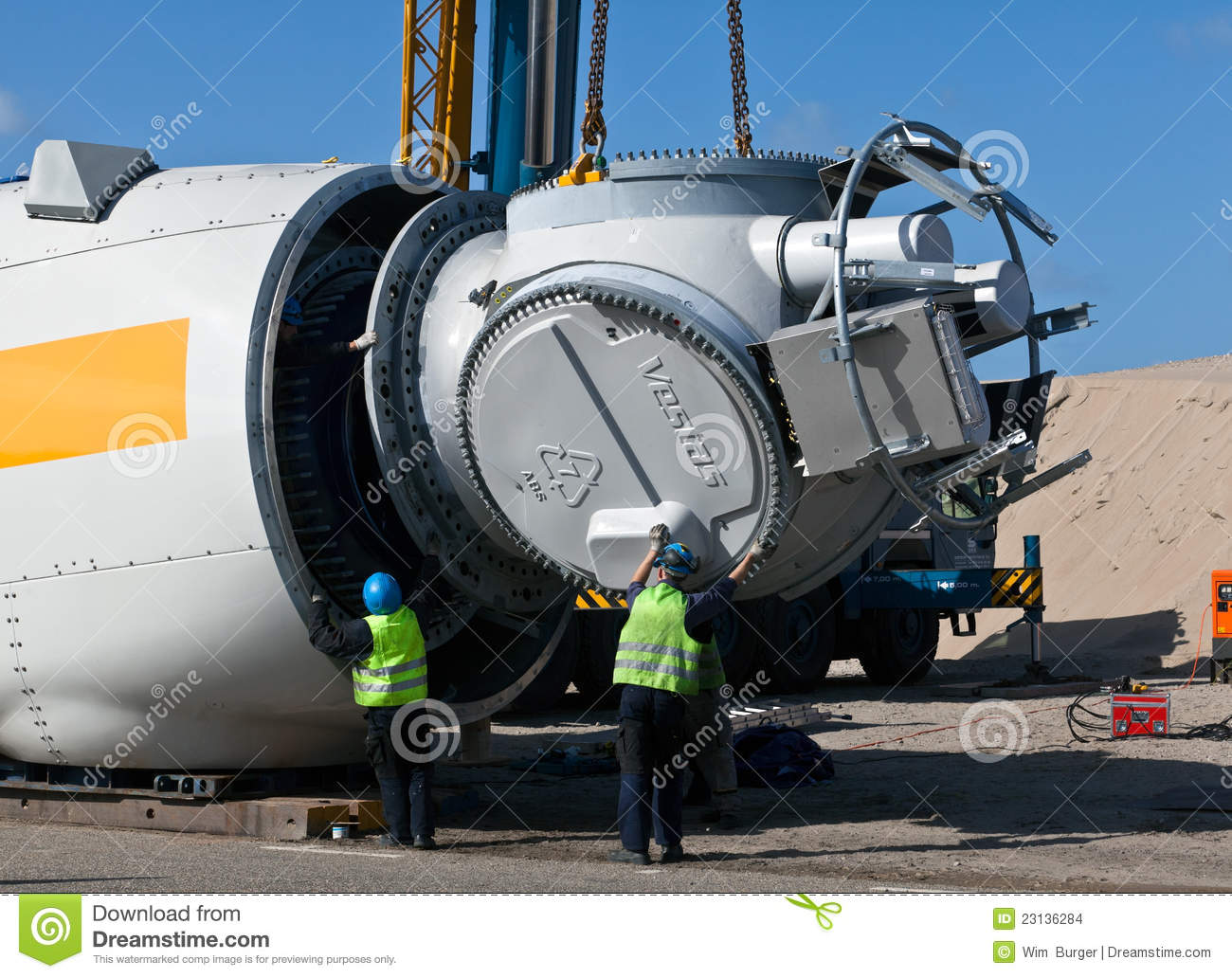 Wind Turbine Construction Site Editorial Stock Image - Image: 23136284